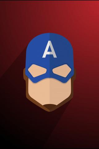 Download 240x320 Wallpaper Captain America Logo Minimal Old