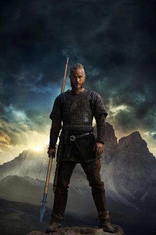 Vikings Tv Show Ragnar Travis Fimmel 240x320 Wallpaper