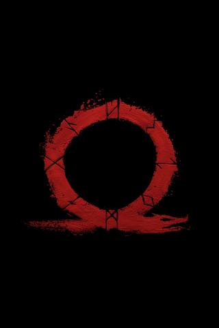 Download 240x320 Wallpaper God Of War Omega Logo Video Game