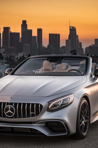Mercedes-AMG S63 4MATIC Cabriolet, sports car, 240x320 wallpaper