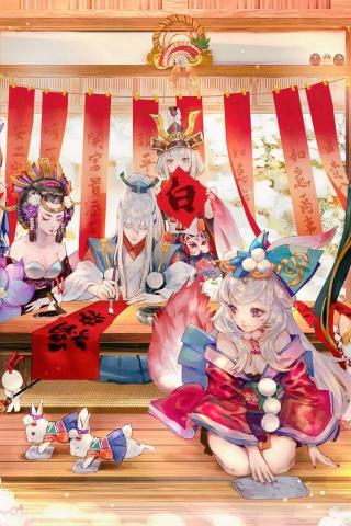 Download 240x320 Wallpaper Party Fun Sousei No Onmyouji
