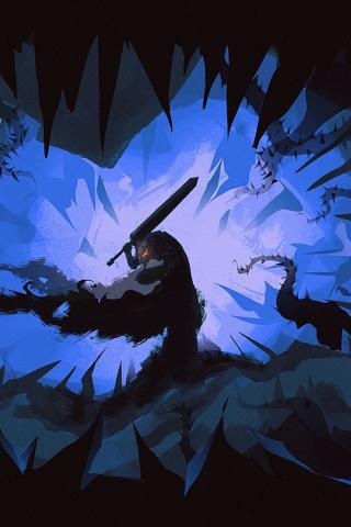 Download 240x320 Wallpaper Berserk Manga Anime Dark Old