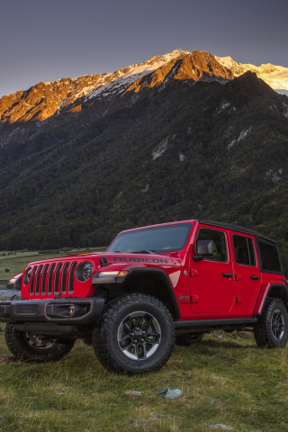 Download 240x320 Wallpaper Red 4x4 Suv Jeep Wrangler Old Mobile Cell Phone Smartphone 240x320 Hd Image Background 6606