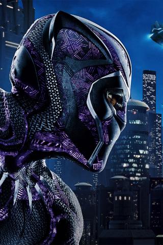 Black Panther Movie Superhero Pink Suit 240x320 Wallpaper