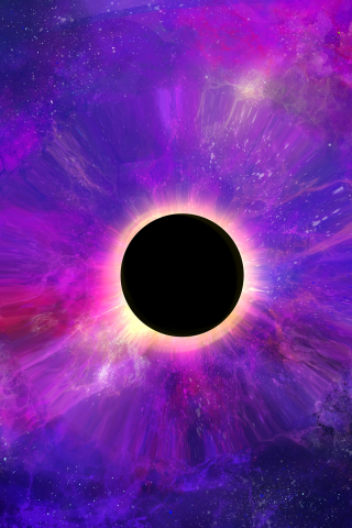 Download 240x320 Wallpaper Space Colorful Dark Black Hole
