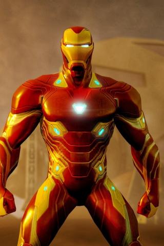 Download 240x320 Wallpaper Iron Man Vibranium Suit Avengers