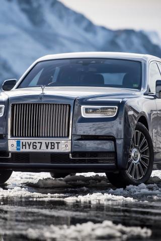 Download 240x320 Wallpaper Rolls Royce Phantom Uk Front View 2017