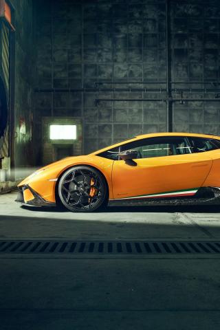 Download 240x320 Wallpaper Lamborghini Huracan Performante Side