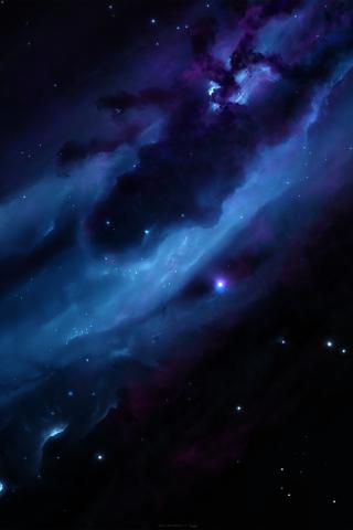 galaxy nebula stars space 4k