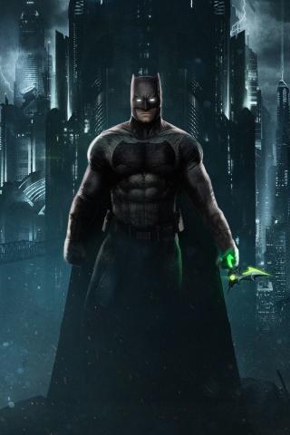 Download 240x320 wallpaper batman, dark, superhero, game
