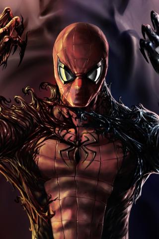Download 240x320 Wallpaper Carnage Venom Spider Man Artwork Old
