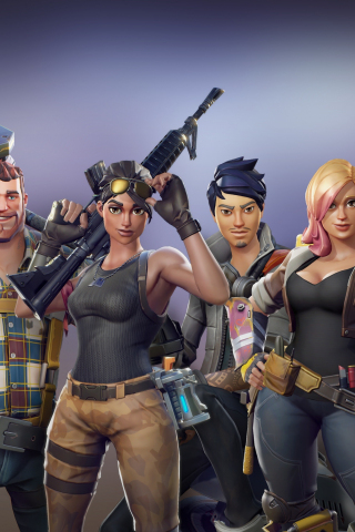 Download 240x320 wallpaper all characters, video game, fortnite, old mobile, cell phone ...