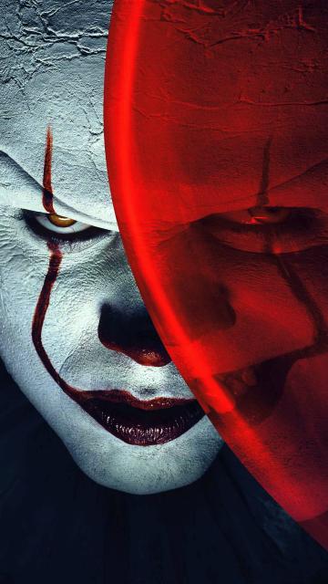 Joker, clown, it, balloon, movie, 360x640 wallpaper