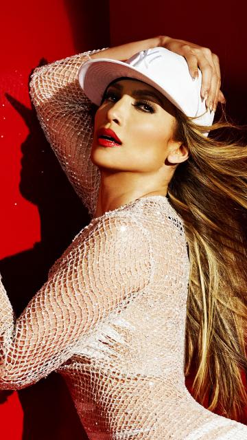 JLO, Jennifer Lopez, celebrity, white dress, 360x640 wallpaper