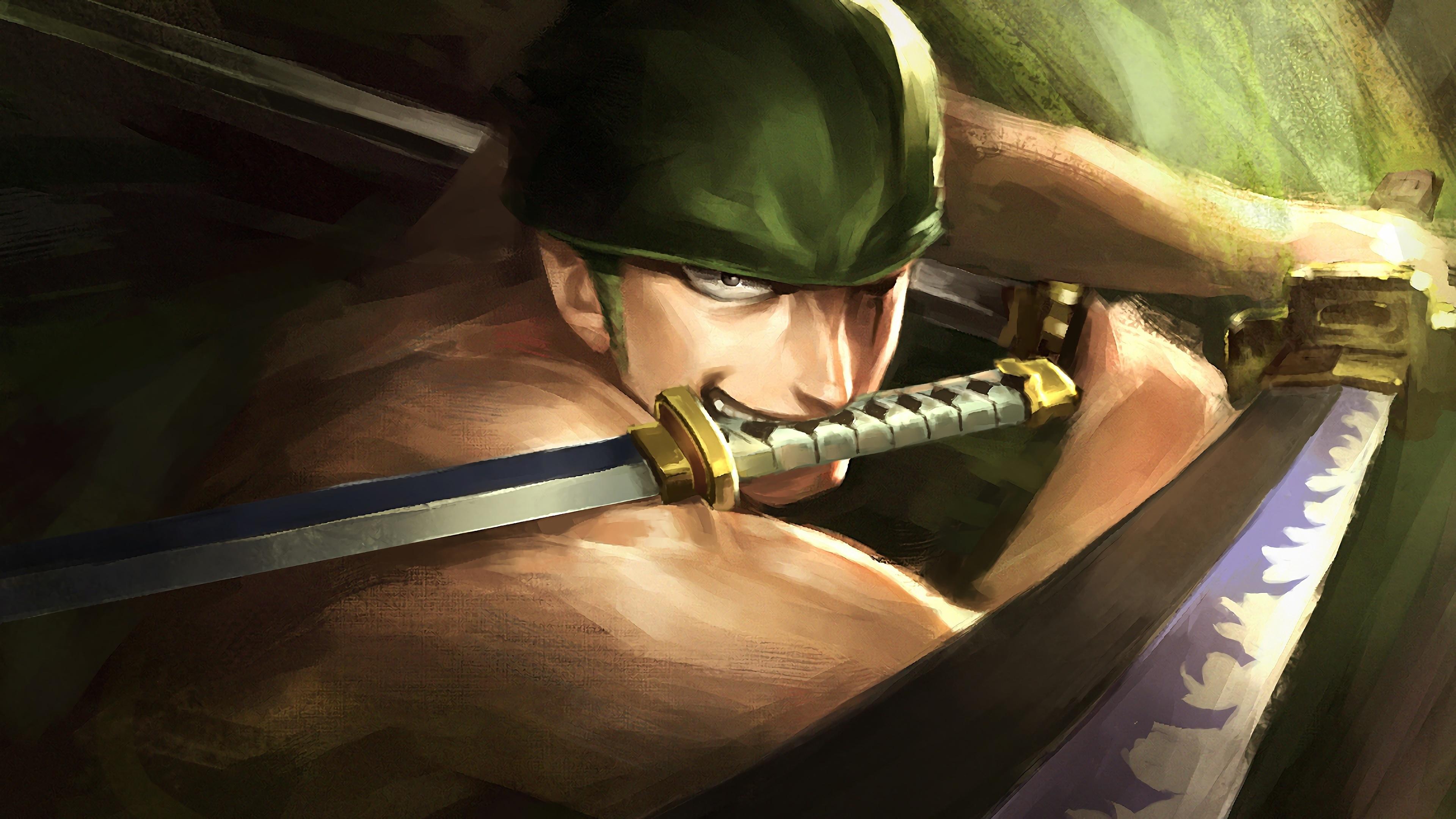 Download 3840x2160 Wallpaper Artwork Warrior Roronoa Zoro