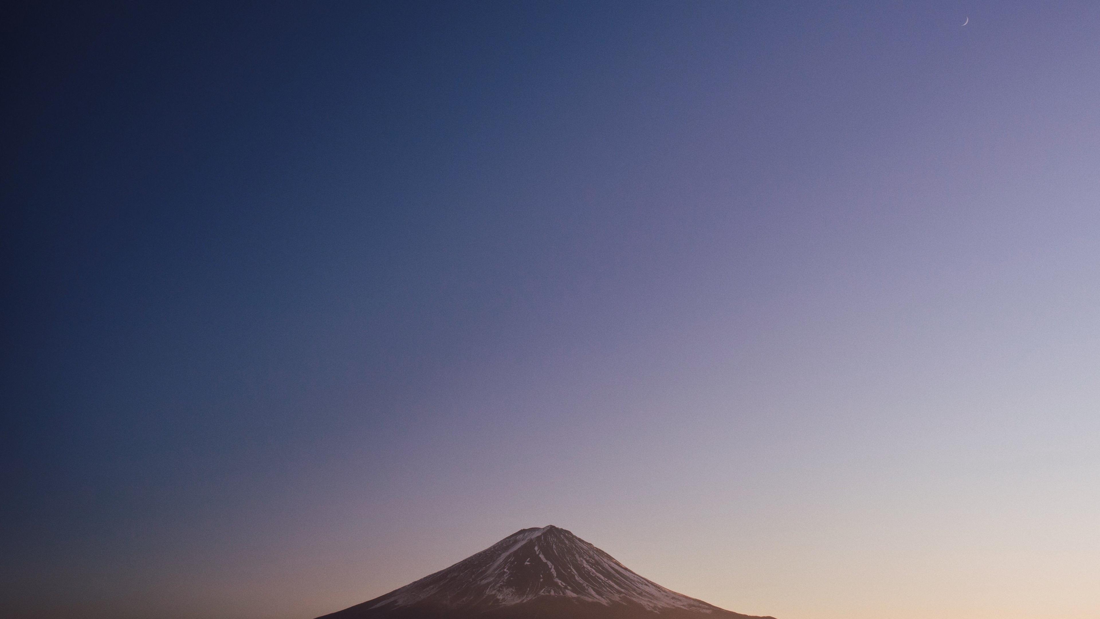 Download 3840x2160 Wallpaper Mount Fuji Nature Blue Sky