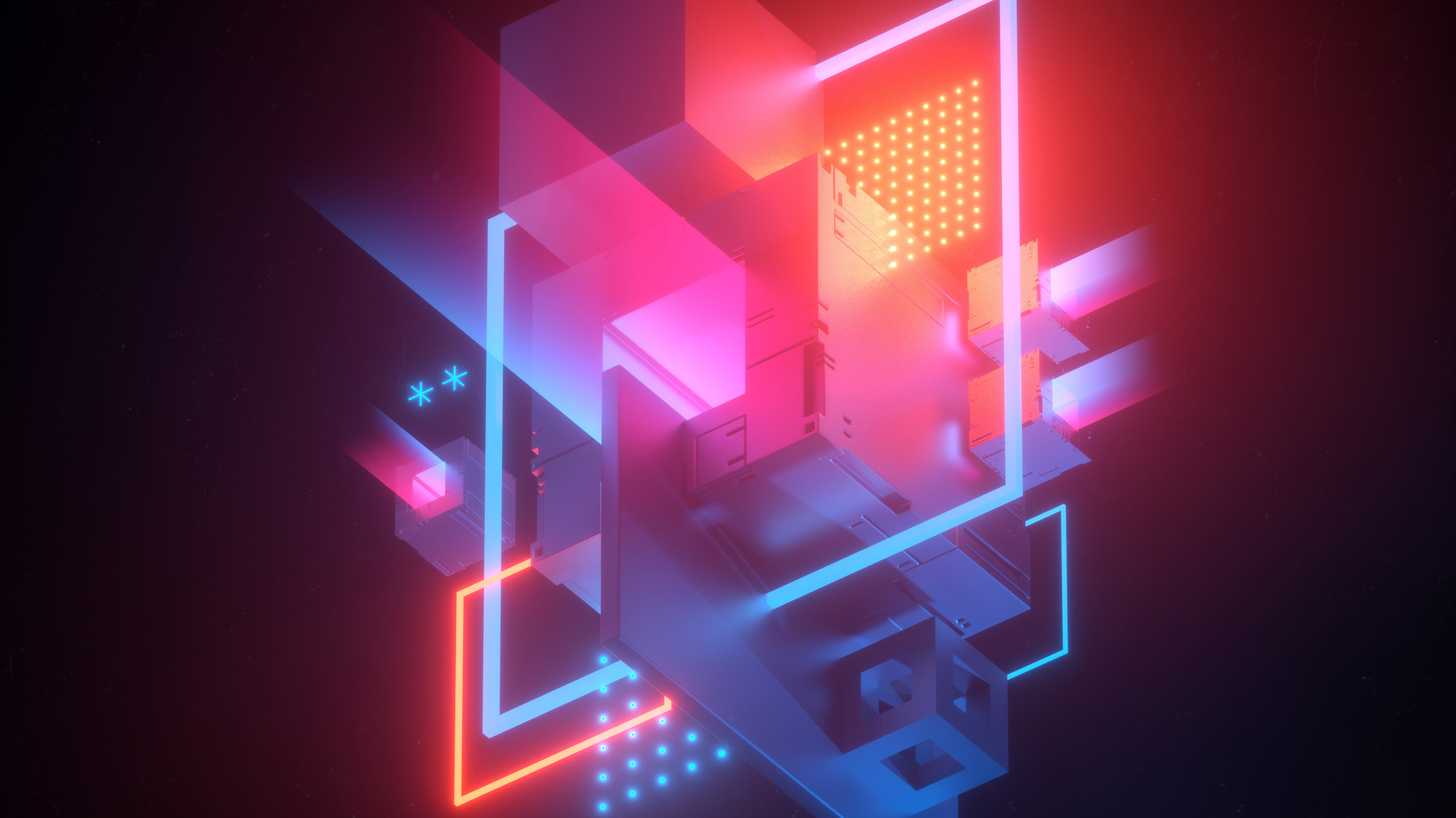 Download 3840x2160 wallpaper abstract, conflict, geometric ...