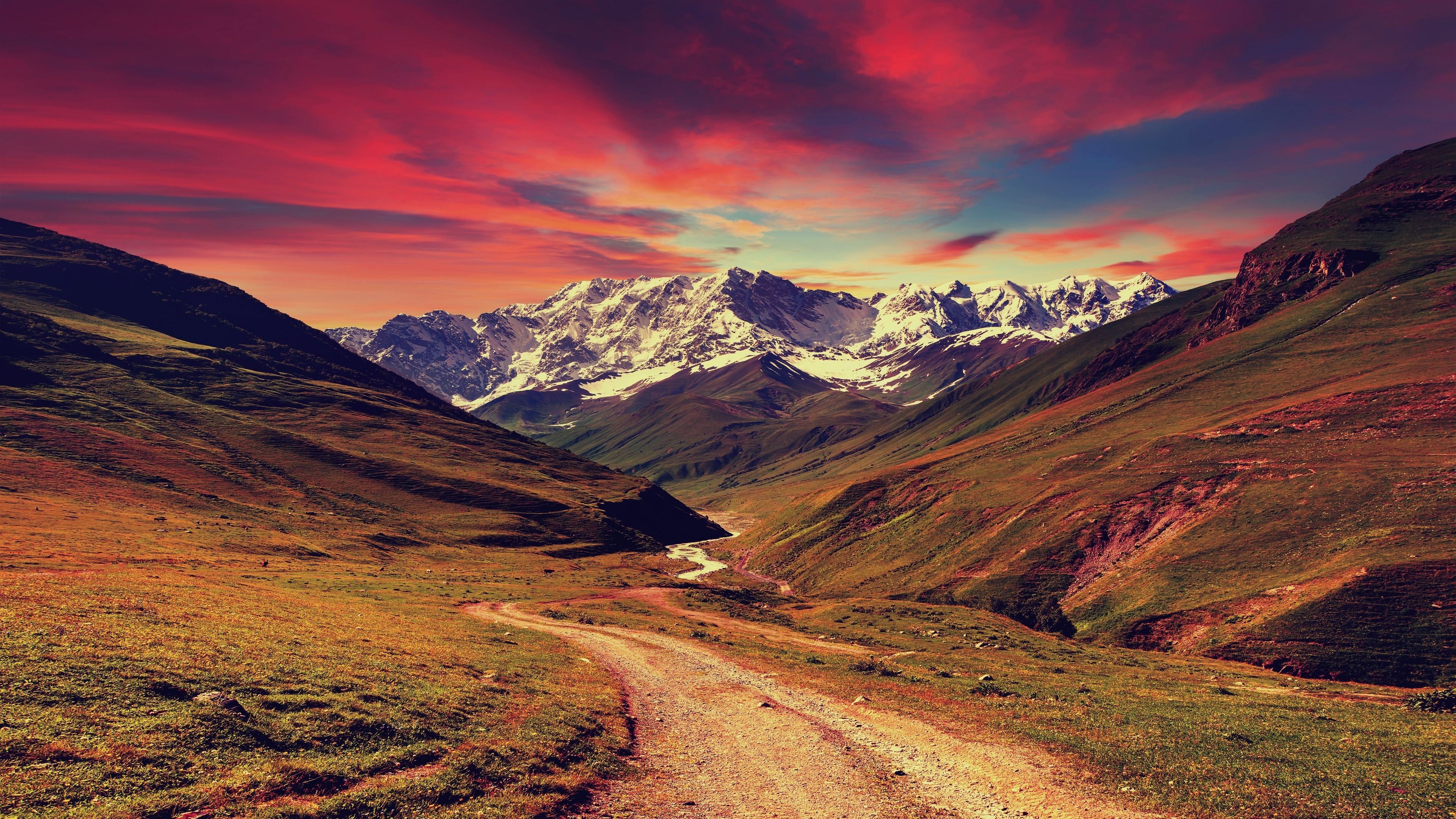 Download 3840x2160 Wallpaper Mountains Sunset Landscape 4k Uhd 16 9 Widescreen 3840x2160 Hd Image Background 990