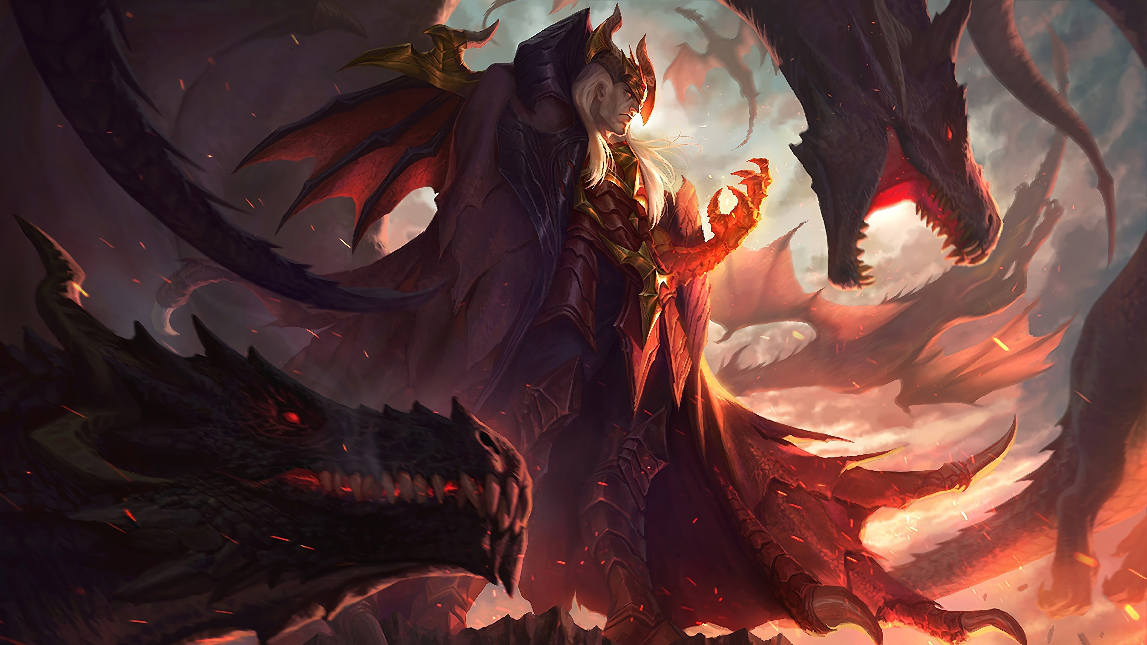 Download 3840x2160 Wallpaper Swain League Of Legends Game