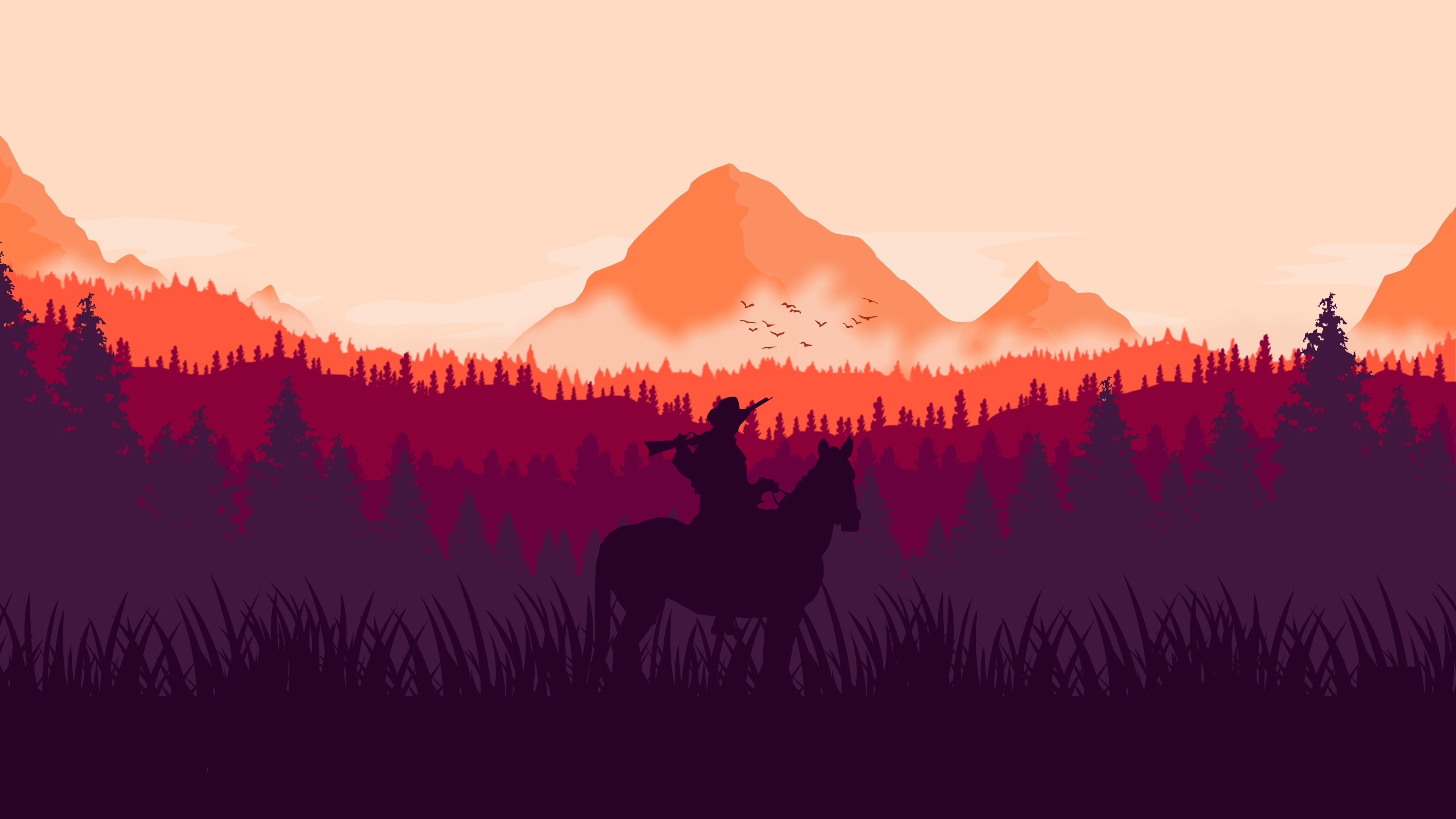 Download 3840x2160 Wallpaper Red Dead Redemption 2 Horse Ride
