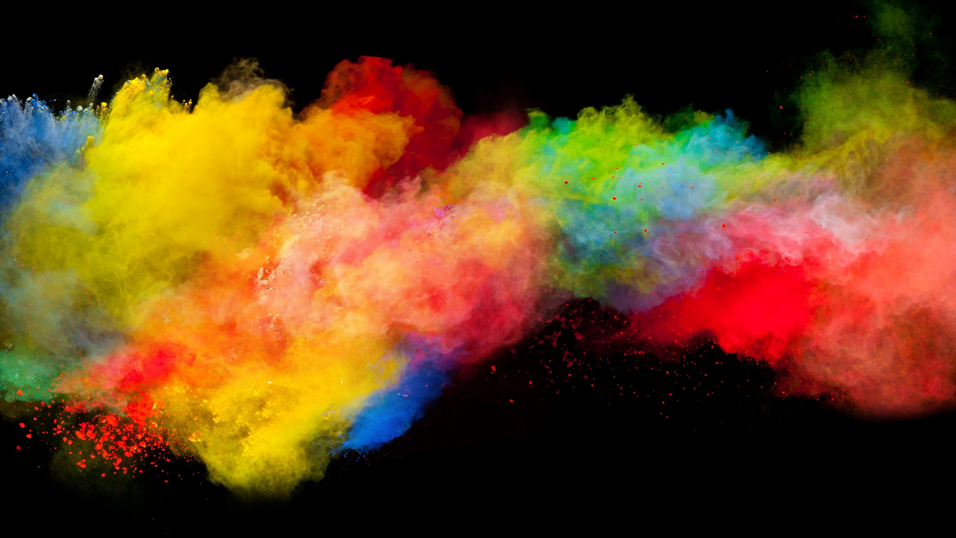 Download 3840x2160 Wallpaper Colorful, Powder, Explosion