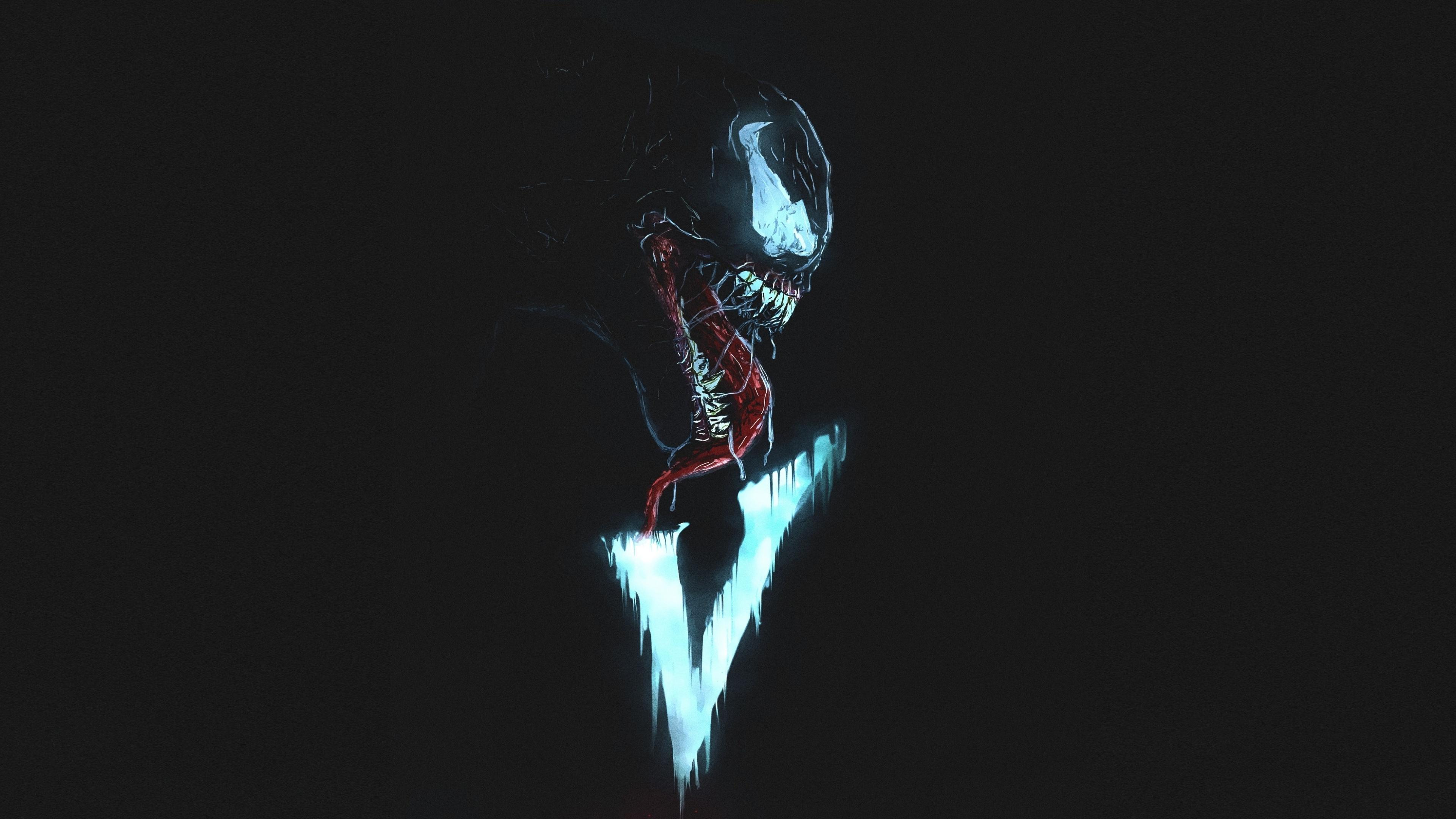 Download 3840x2160 wallpaper venom villain minimal - 4k wallpaper venom ...