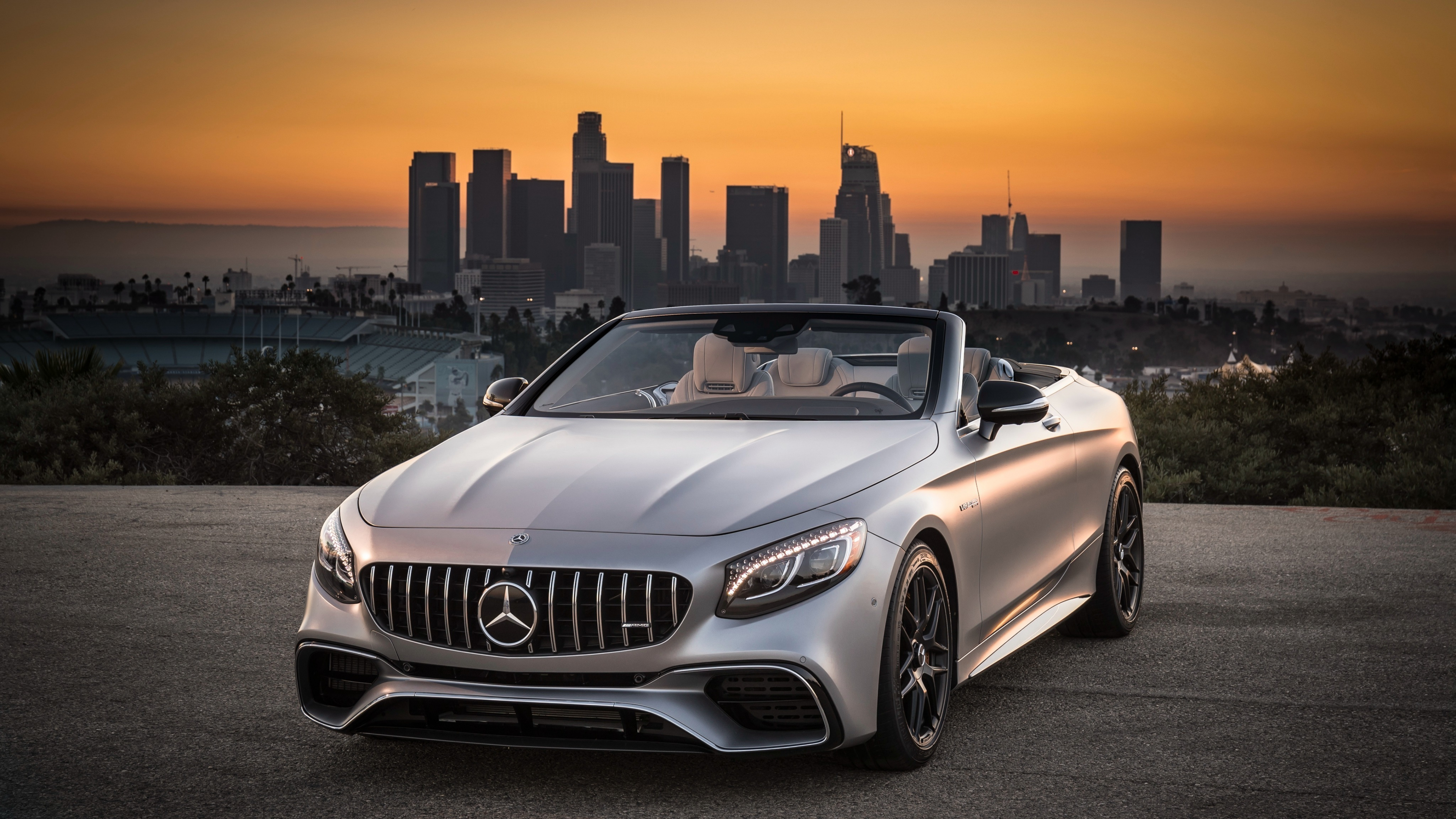 Mercedes-AMG S63 4MATIC Cabriolet, sports car, 3840x2160 wallpaper