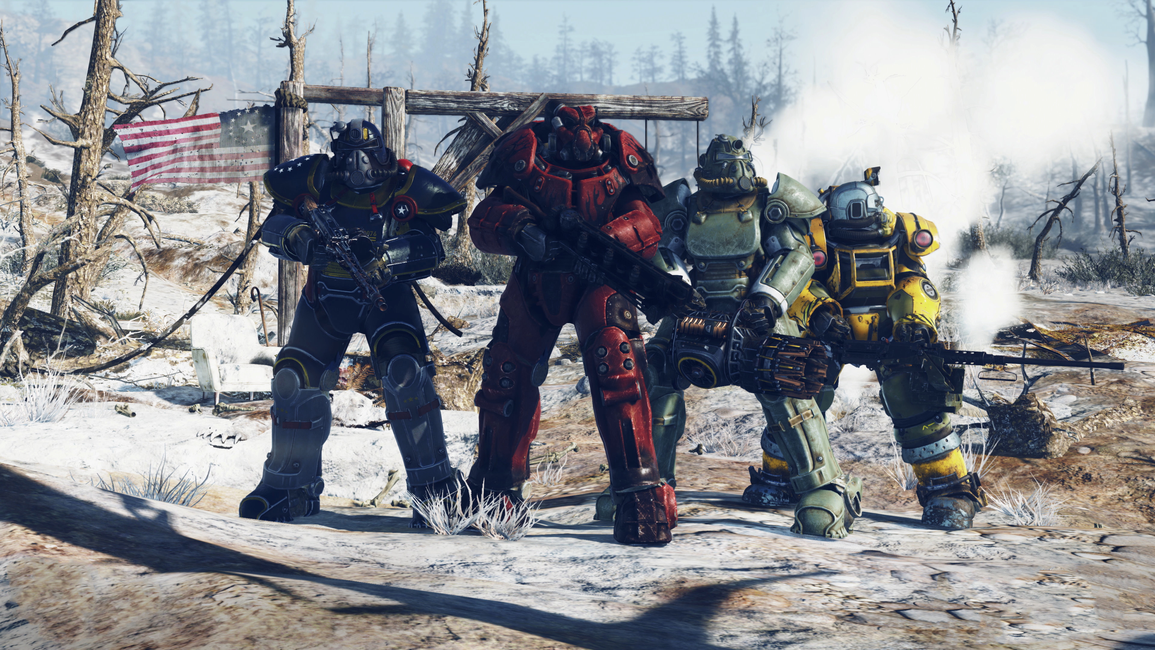 Download 3840x2160 Wallpaper Fallout 76 Armour Suits E3