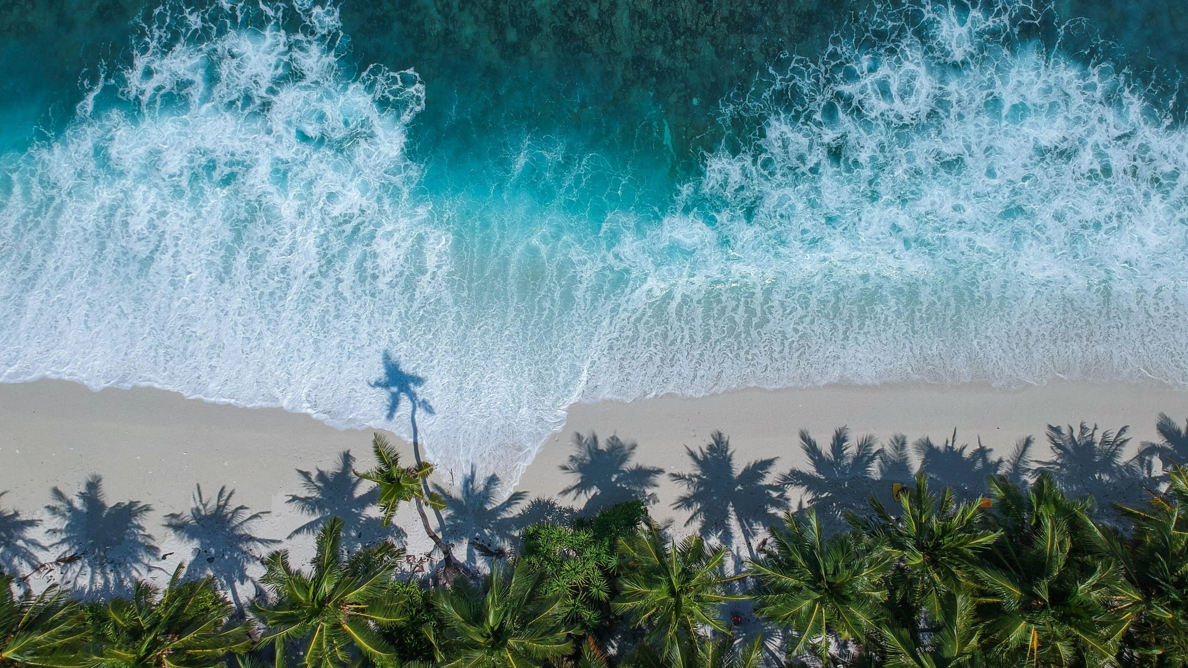 Download 3840x2160 Wallpaper Beautiful Beach Aerial View