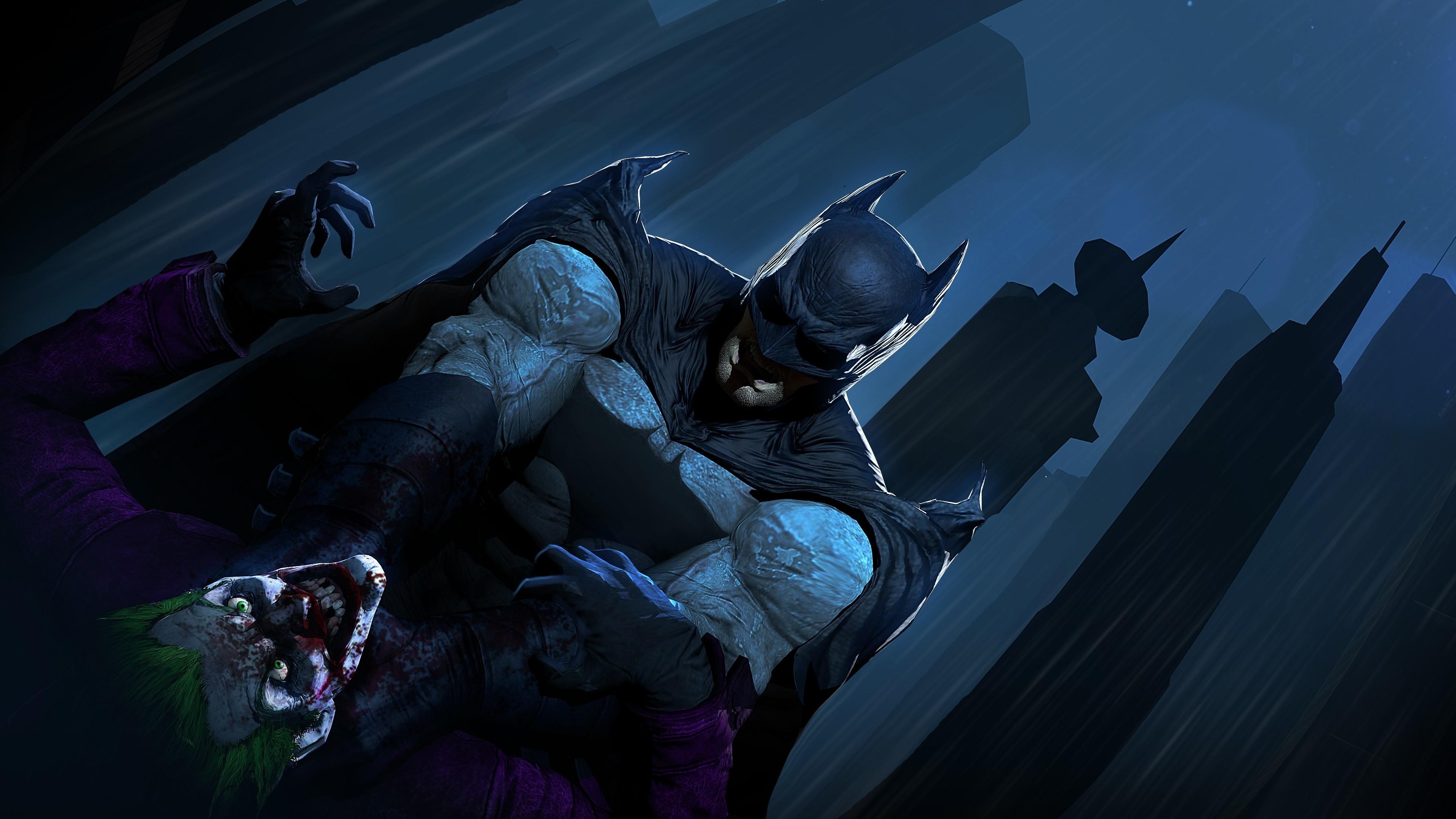 Download 3840x2160 Wallpaper Joker Vs Batman Dc Comics