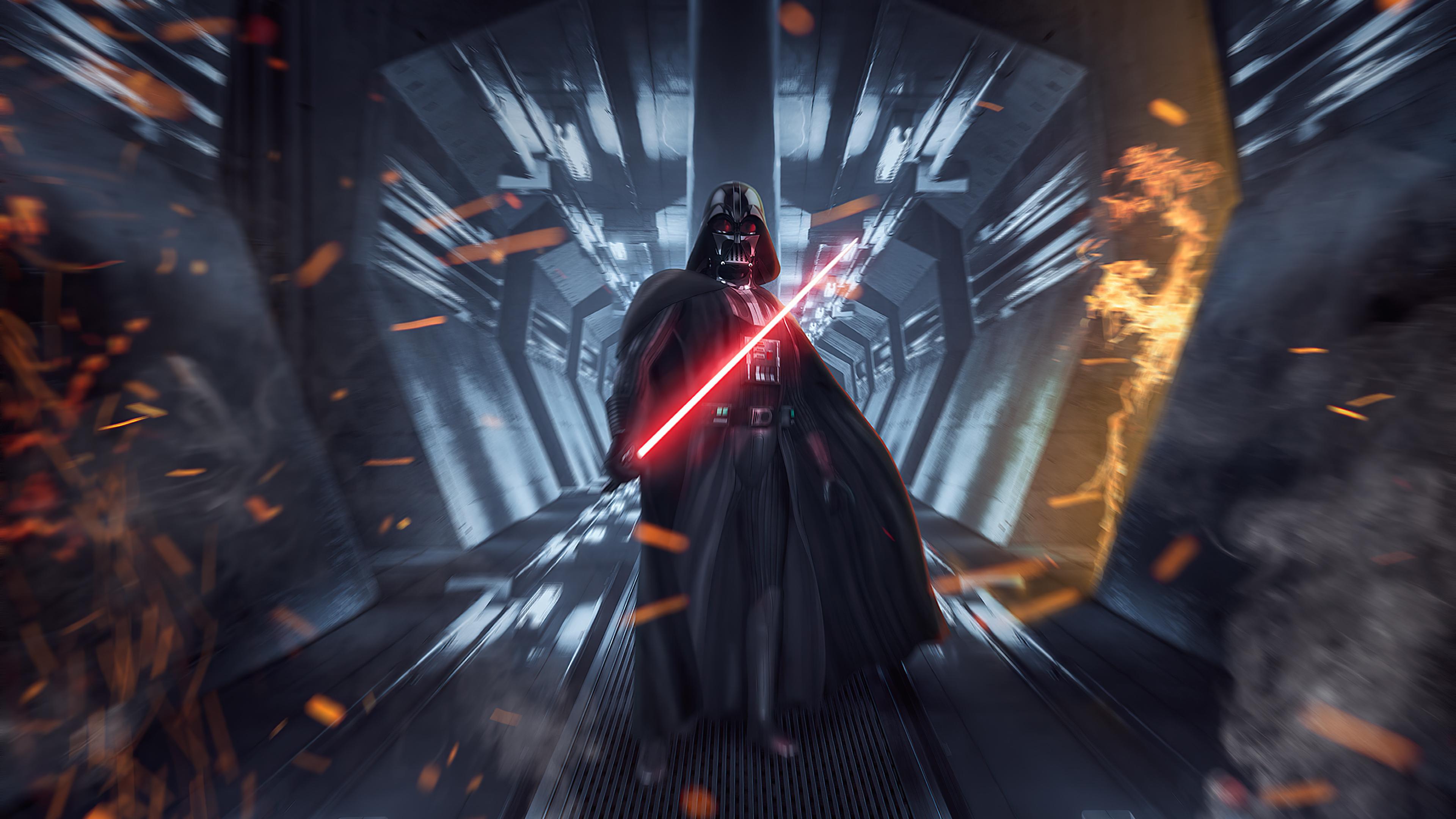 Download 3840x2160 Wallpaper Darth Vader Star Wars Dark Forces Video Game Art 4k Uhd 16 9 Widescreen 3840x2160 Hd Image Background 25026