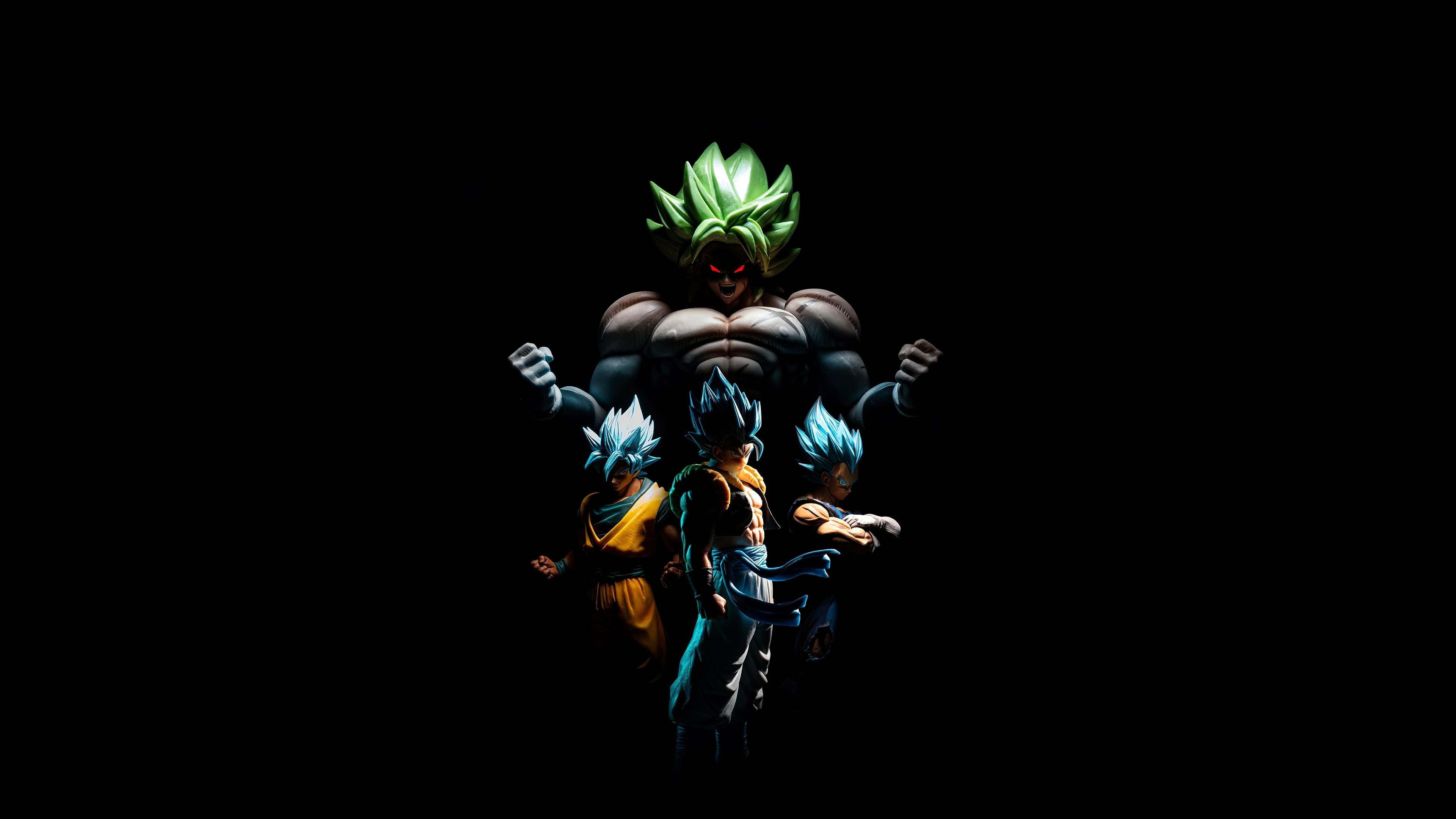 Download 3840x2160 Wallpaper Goku And Broly Vegeta Gogeta Dark 4k Uhd 16 9 Widescreen 3840x2160 Hd Image Background 24844