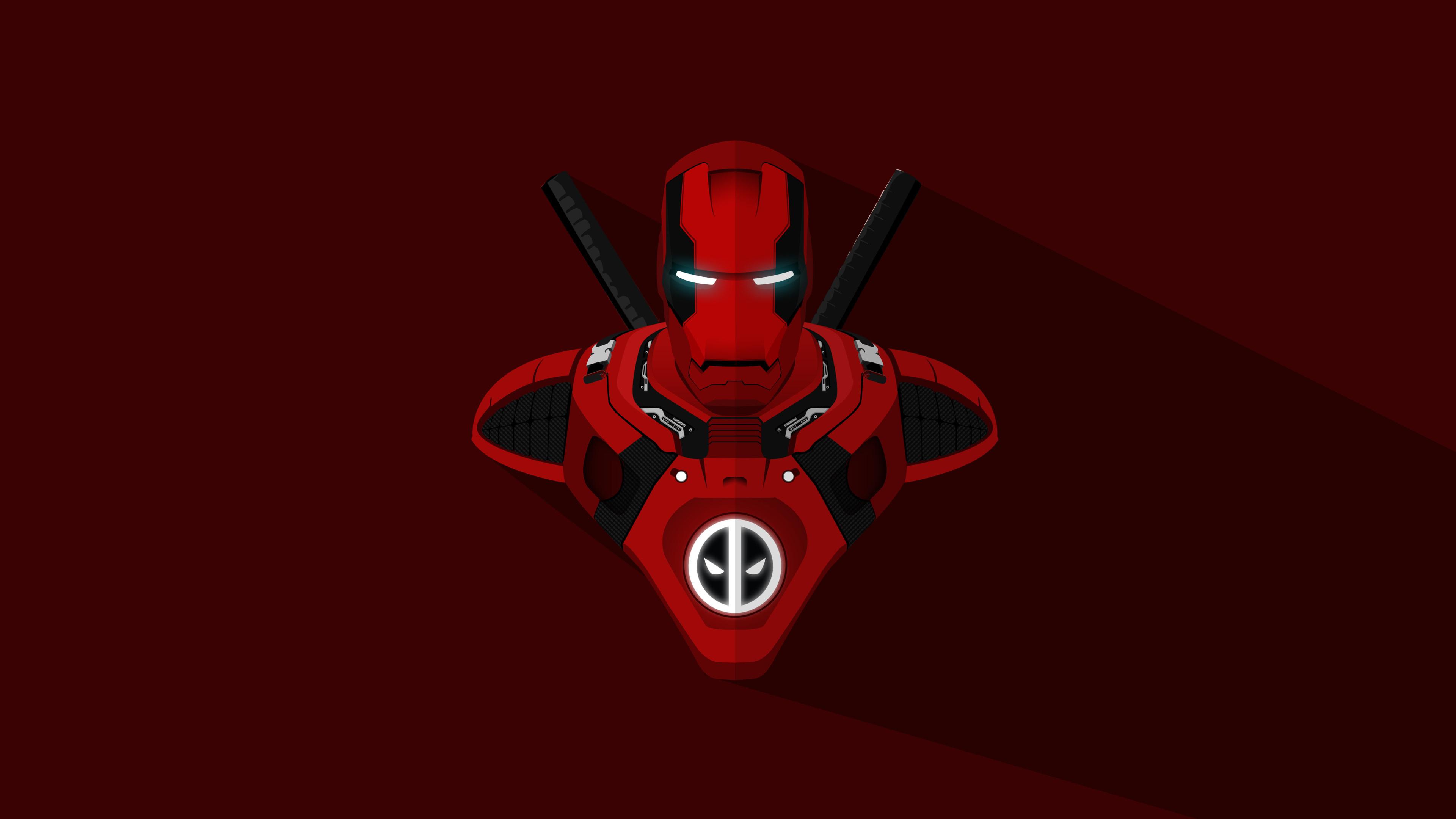 Download 3840x2160 Wallpaper Iron Man Deadpool Crossover