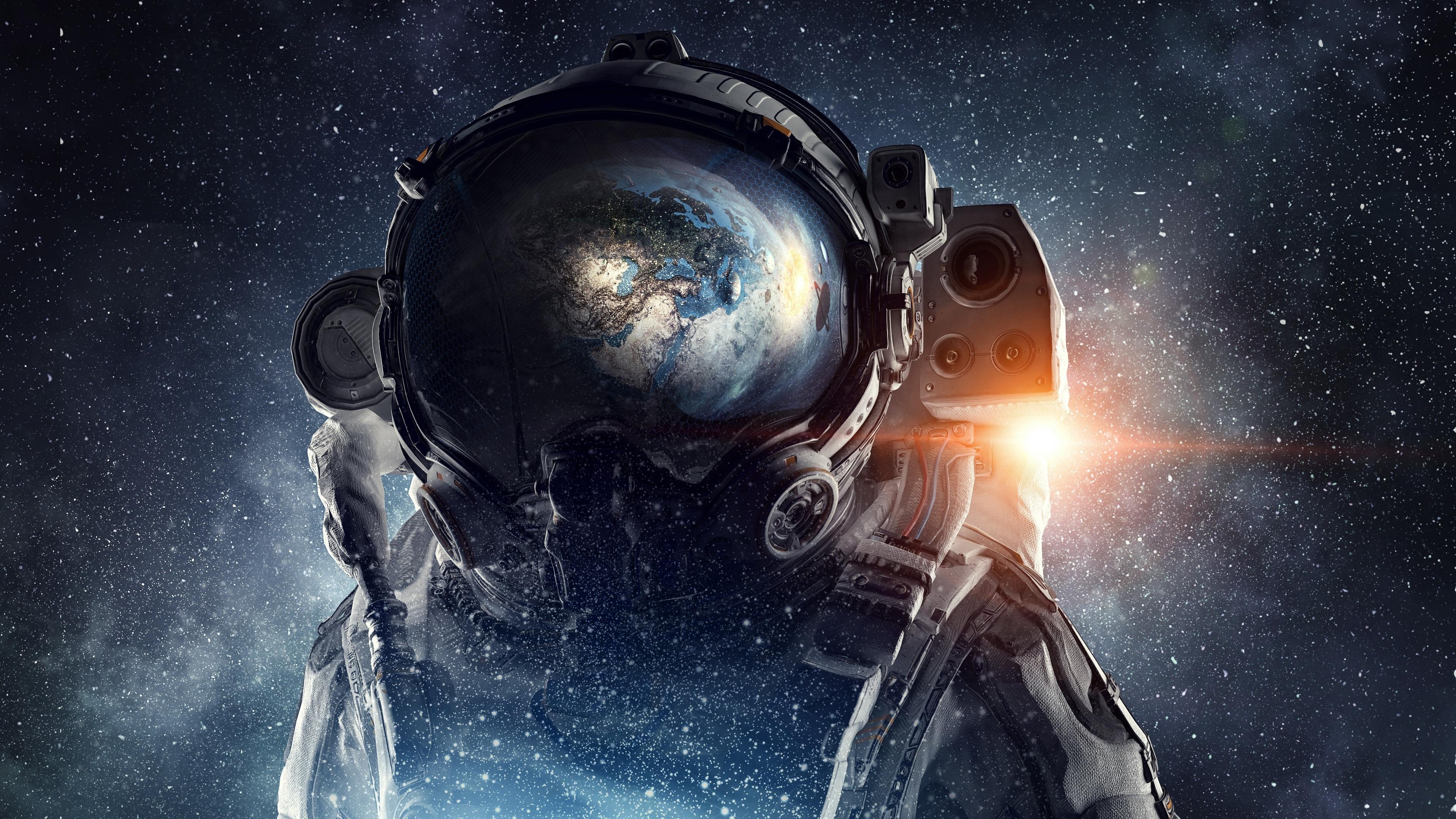 Download 3840x2160 Wallpaper Fantasy Astronaut Space 4k