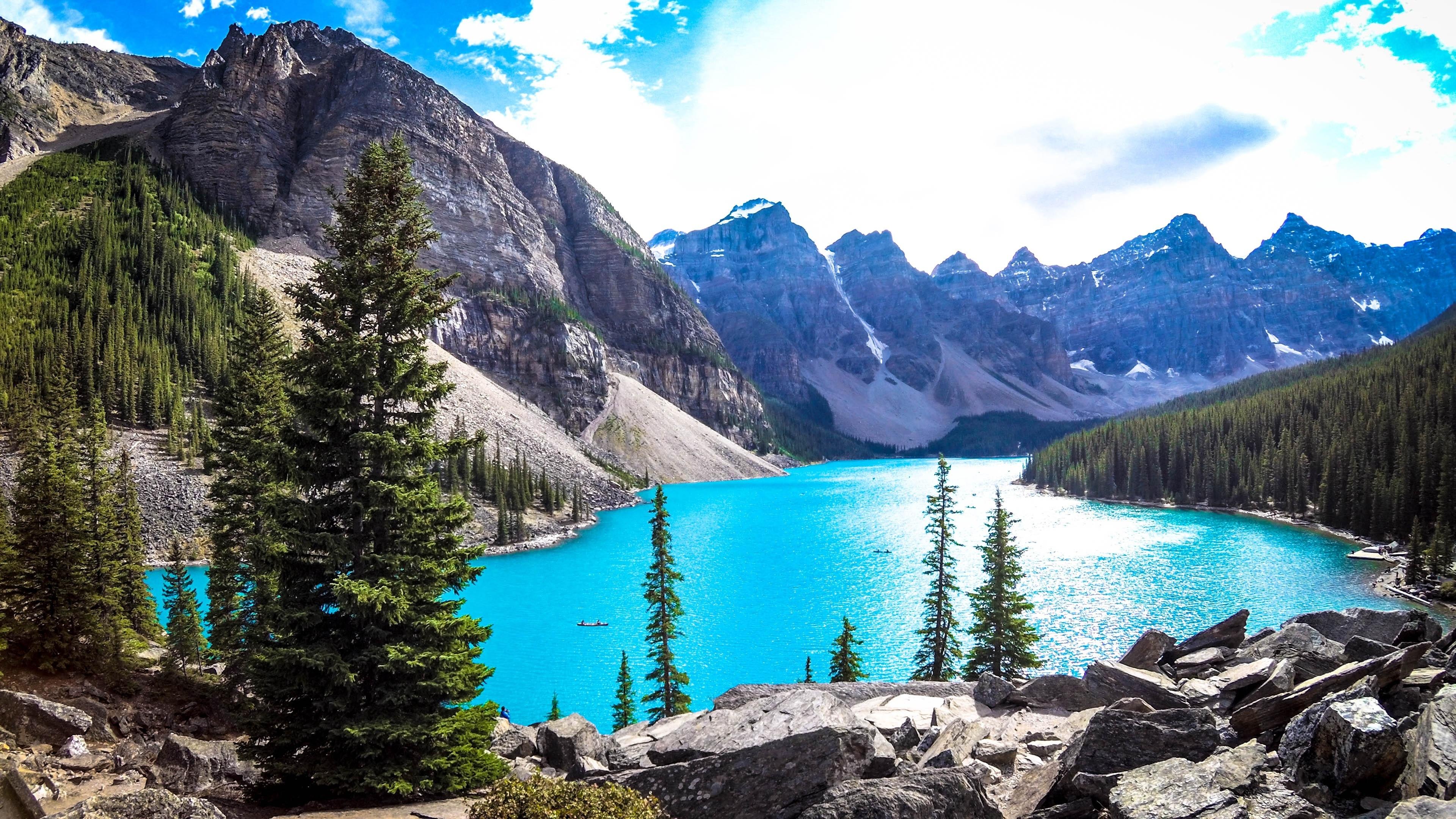 Download 3840x2160 Wallpaper Moraine Lake Banff National