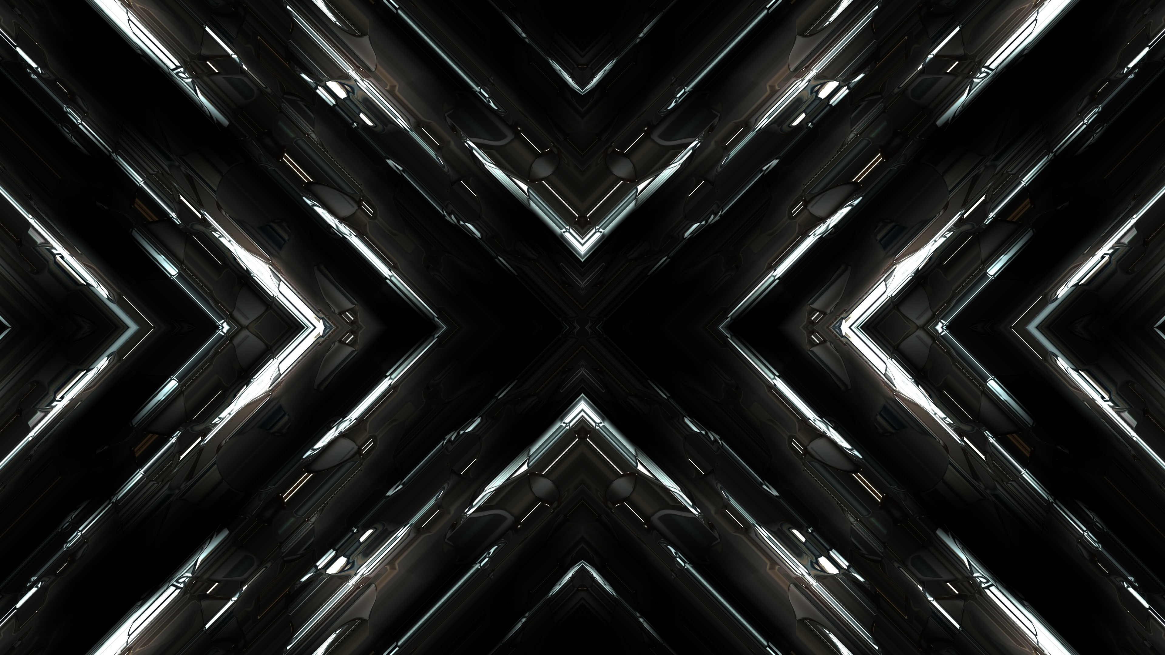 Download 3840x2160 wallpaper fractal, dark, abstract, 4k ...