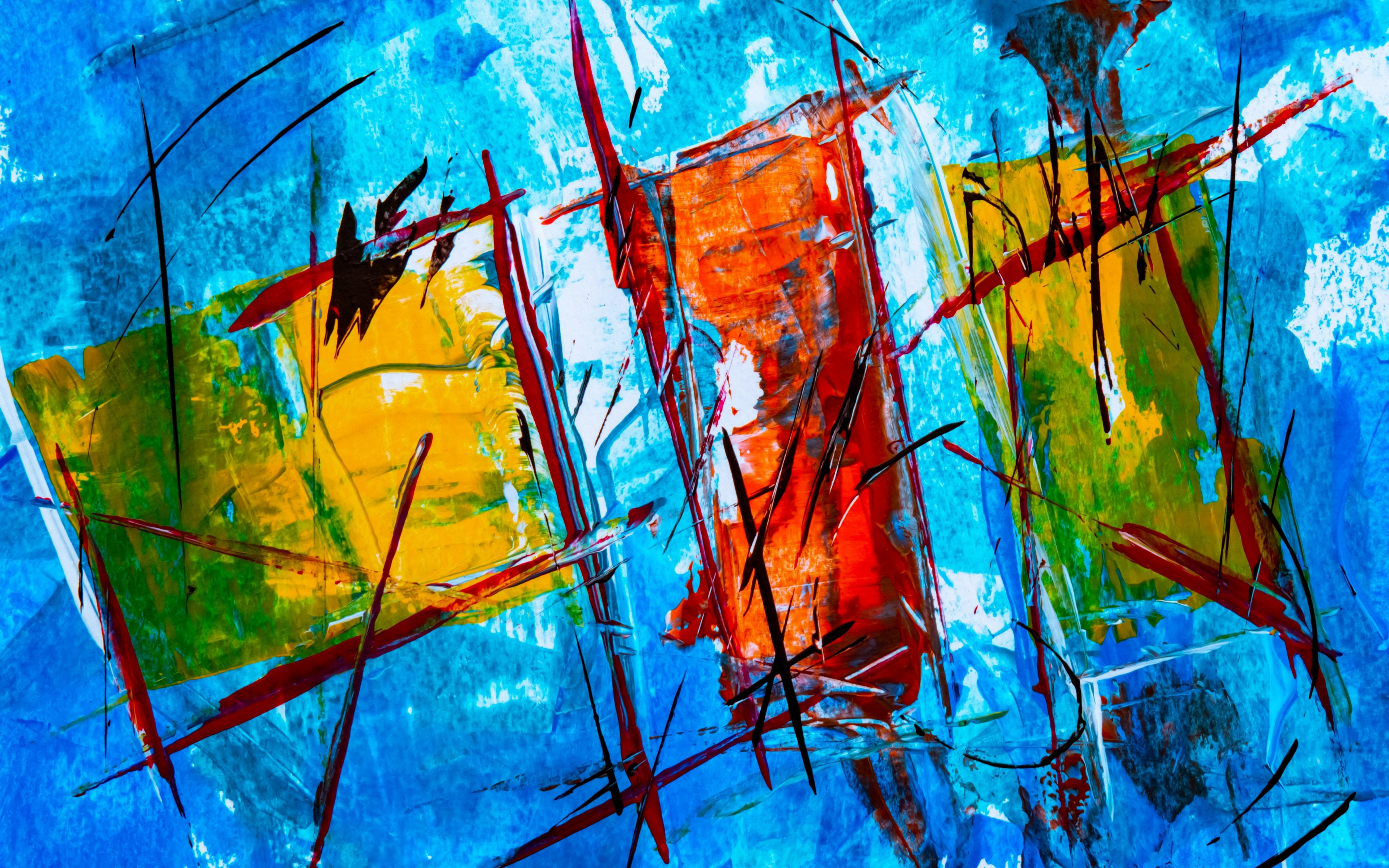 Download 3840x2400 Wallpaper Abstract Colorful Paint Art