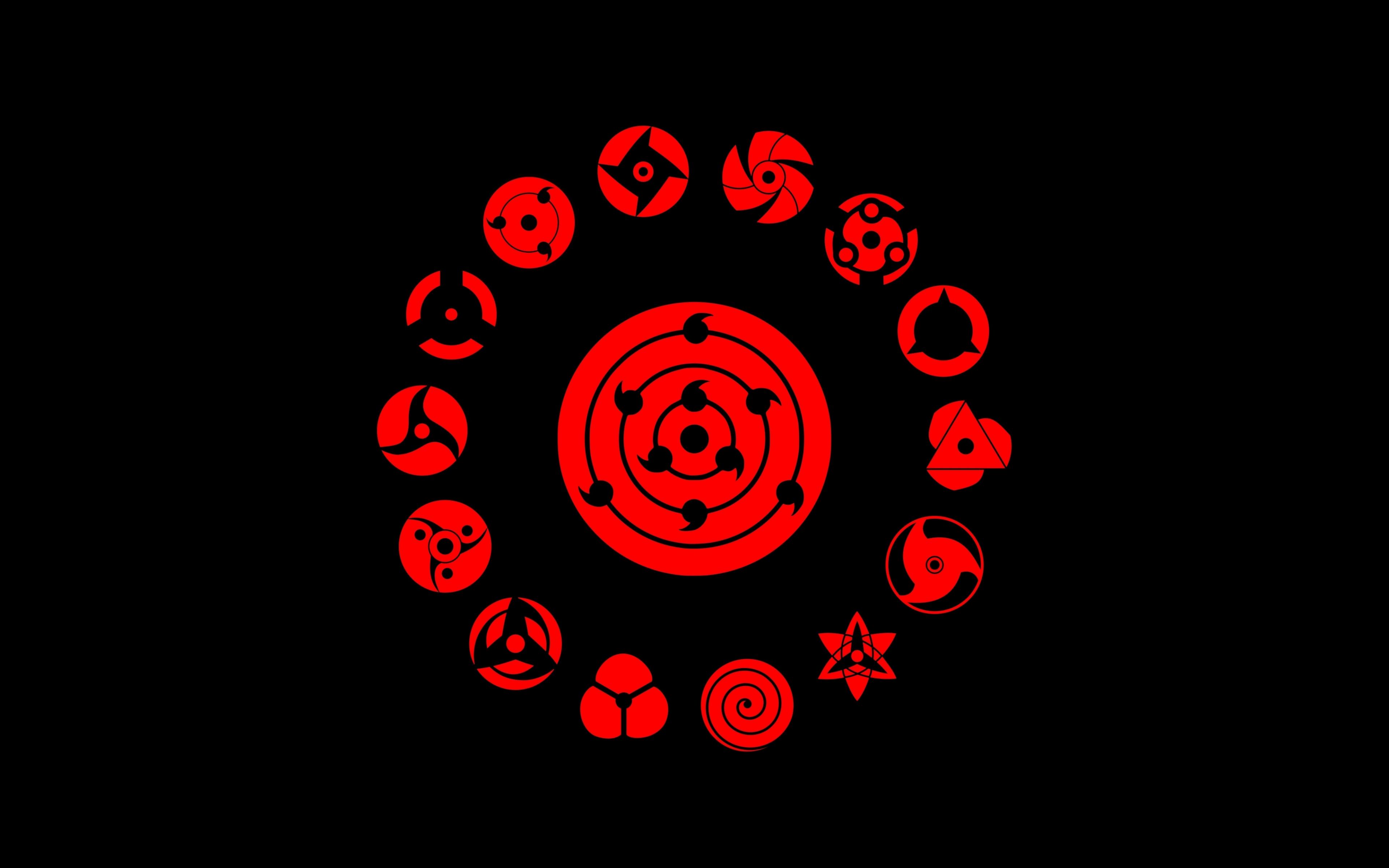 Download 3840x2400 wallpaper logo, minimal, naruto, 4k ...