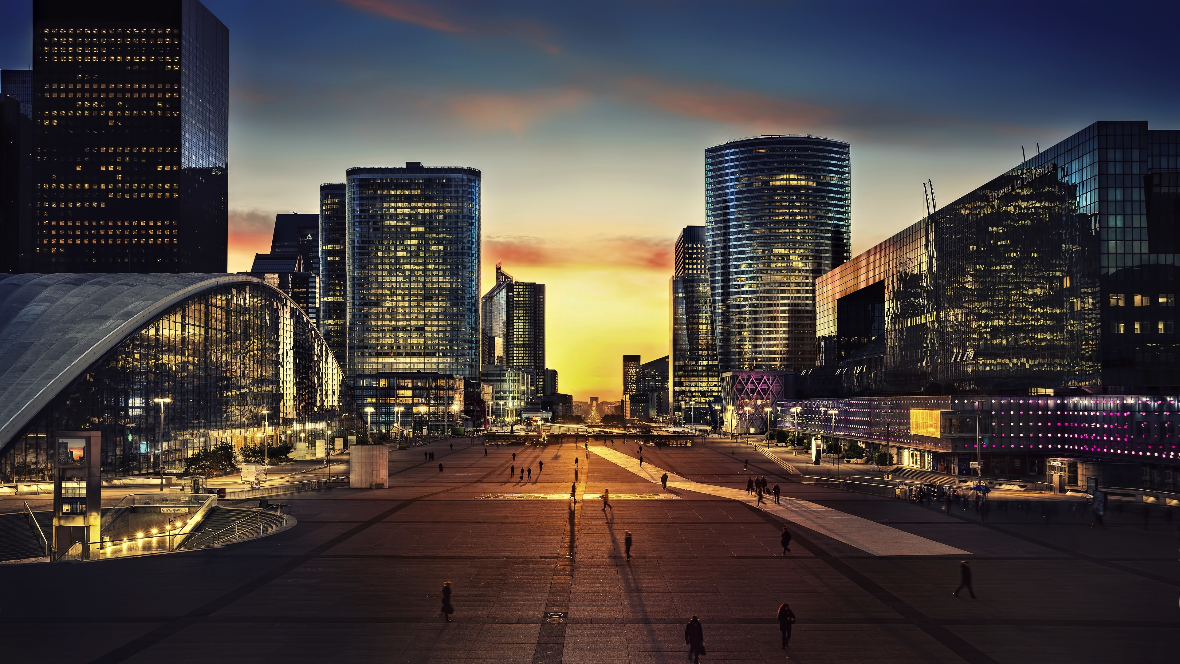 Arc De Triomphe Paris City Night 3840x2400 Wallpaper