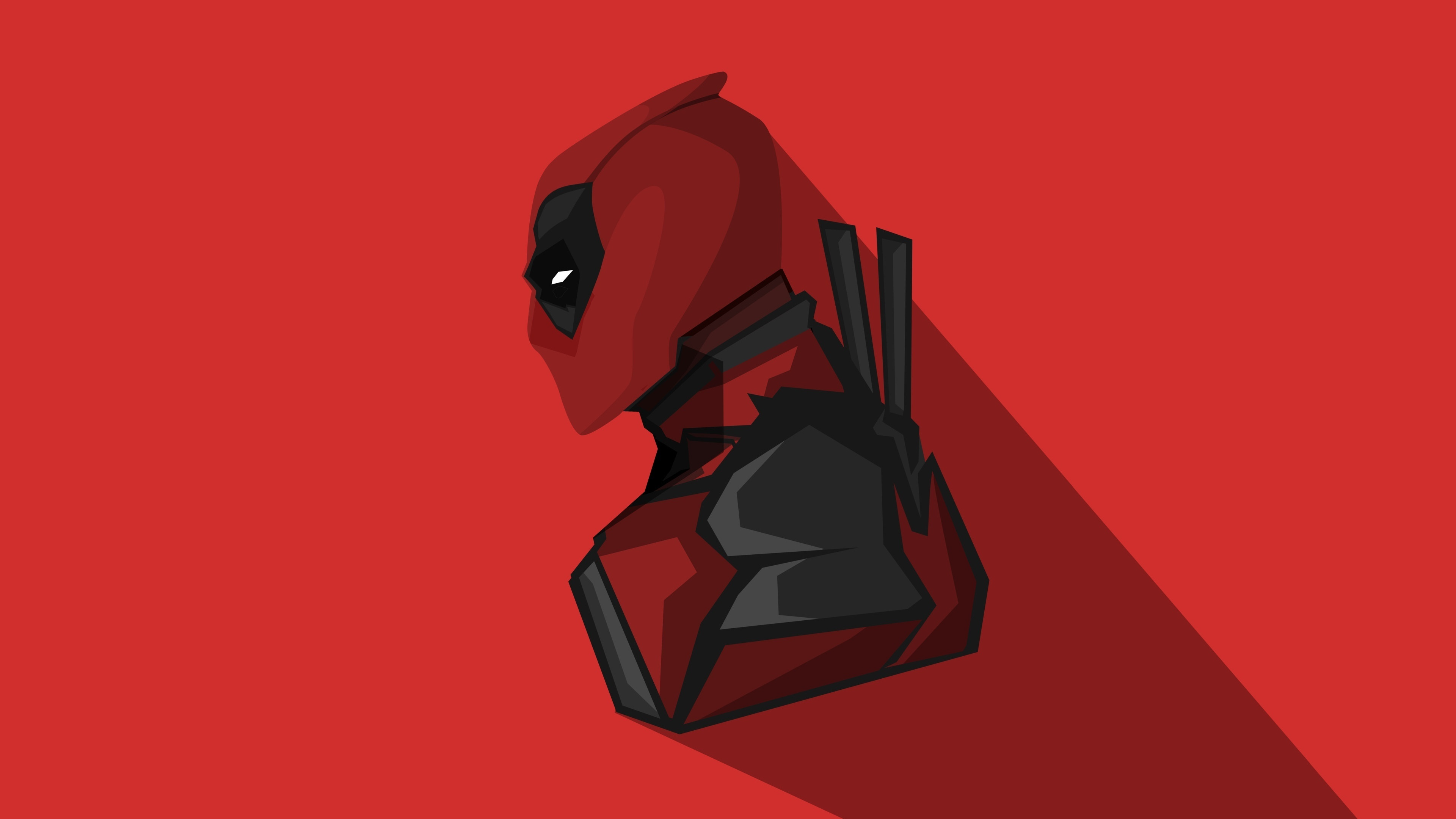 Download 3840x2400 Wallpaper Deadpool Marvel Comics Minimal 4k