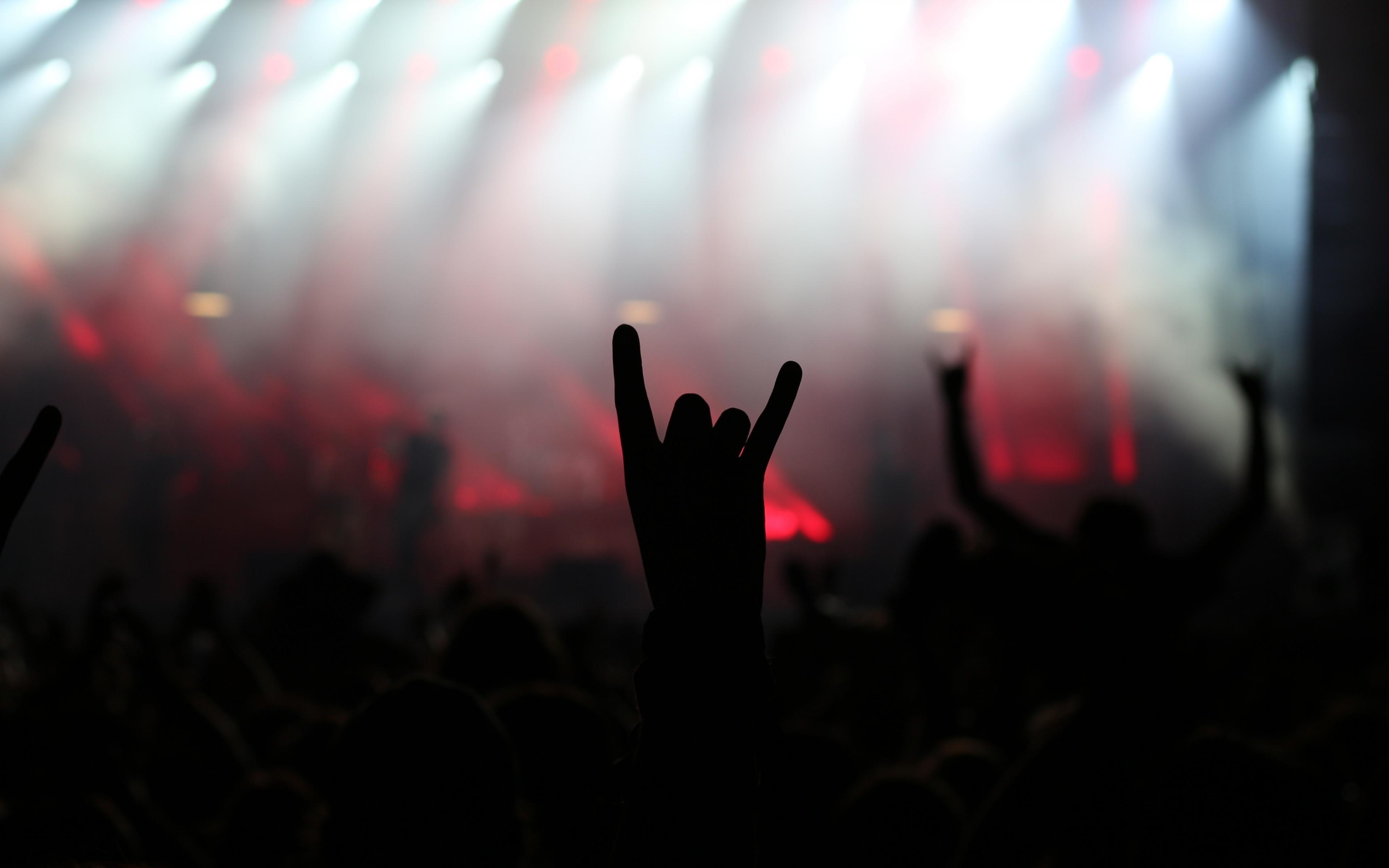 Rock party, music concert, dance, hands, party, 3840x2400 wallpaper