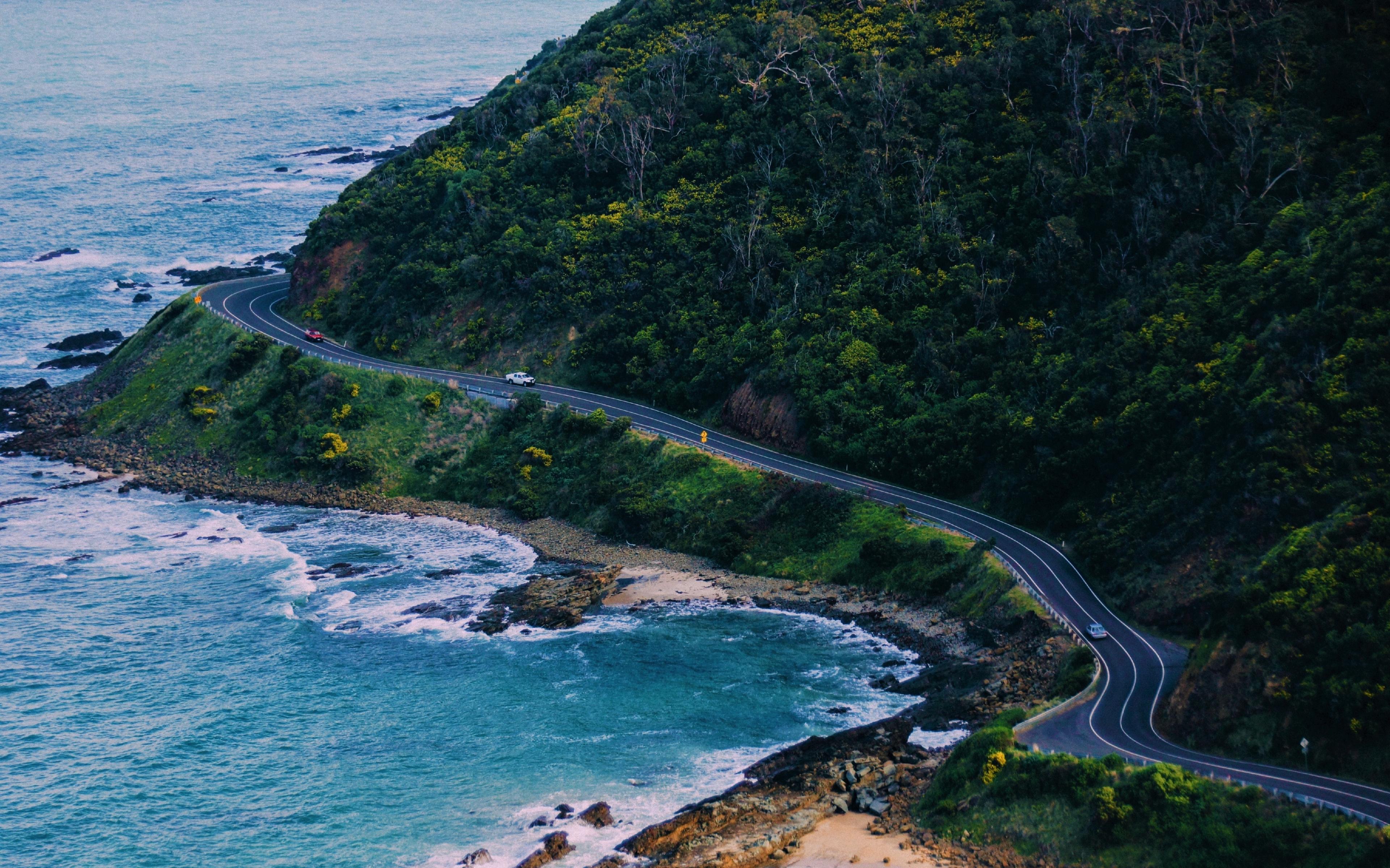 Download 3840x2400 Wallpaper California Coast Road