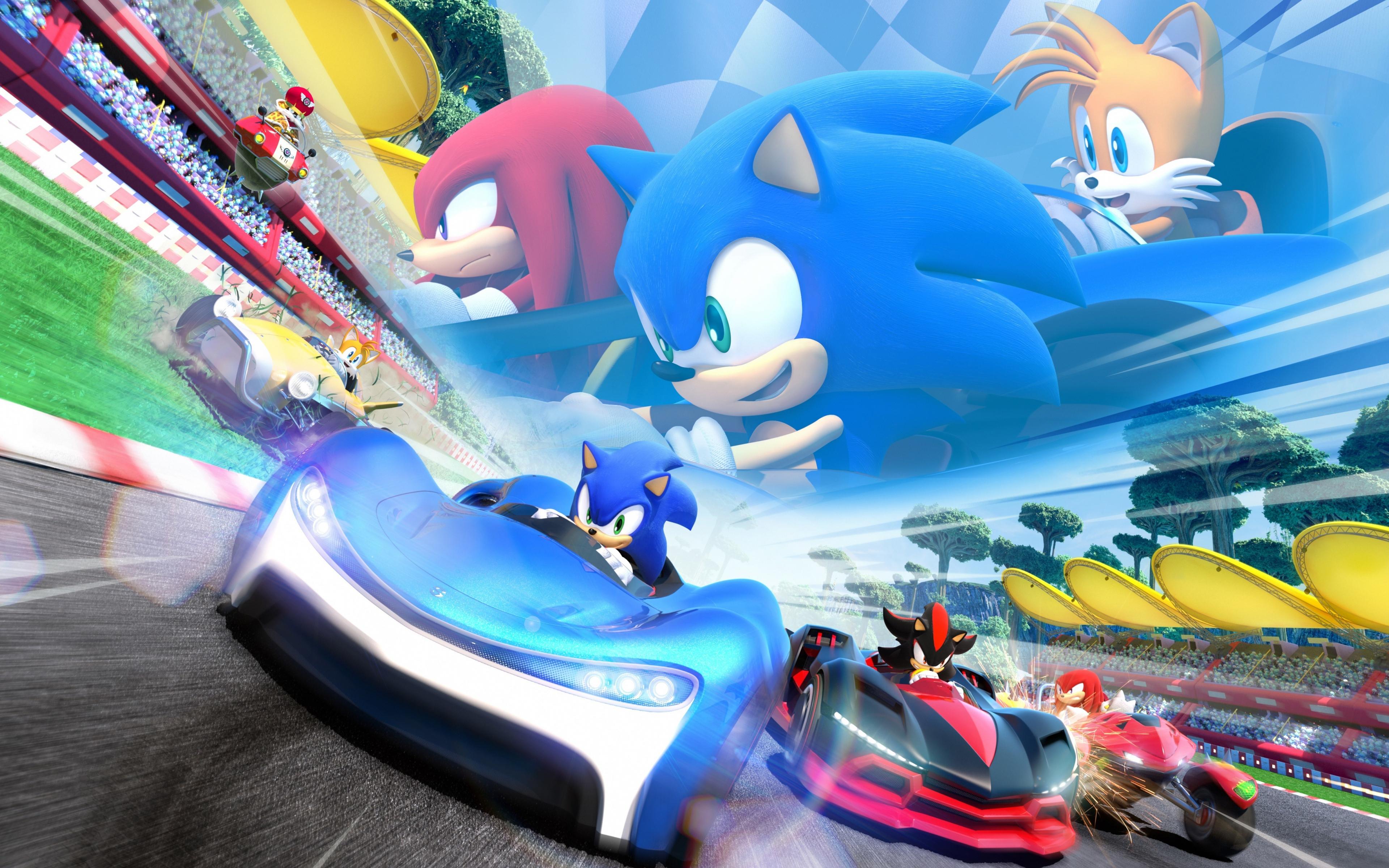 Download 3840x2400 Wallpaper Sonic The Hedgehog Video Game Kart Racing Game Nintendo 4k Ultra Hd 16 10 Widescreen 3840x2400 Hd Image Background 8471