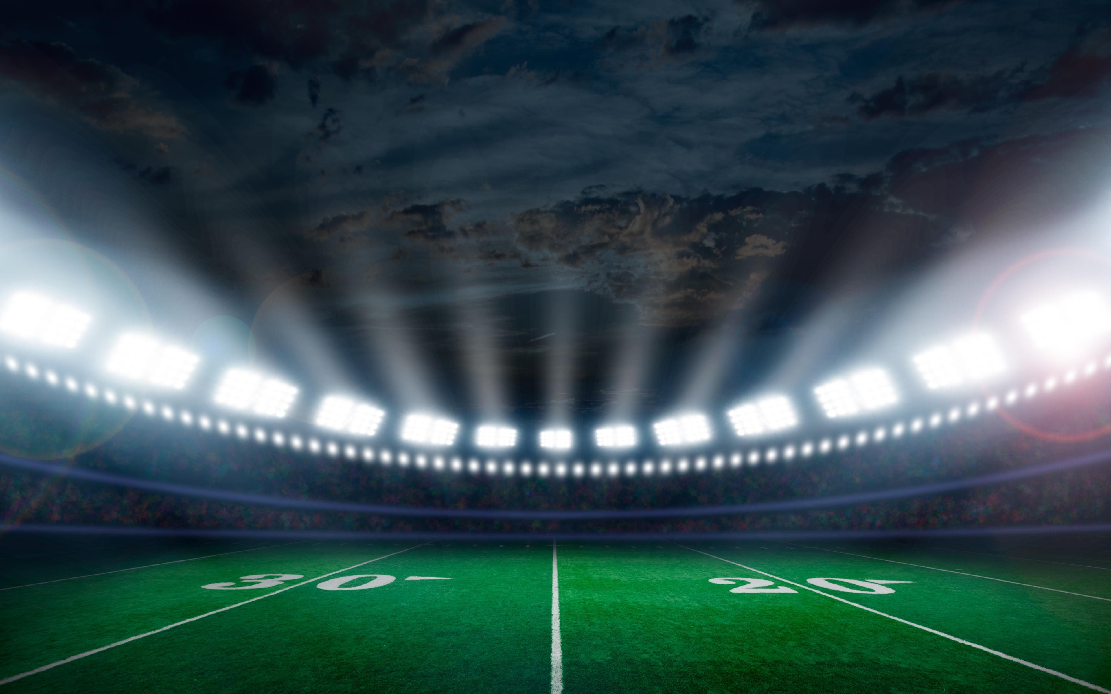 Download 3840x2400 Wallpaper Stadium, Football, Lights
