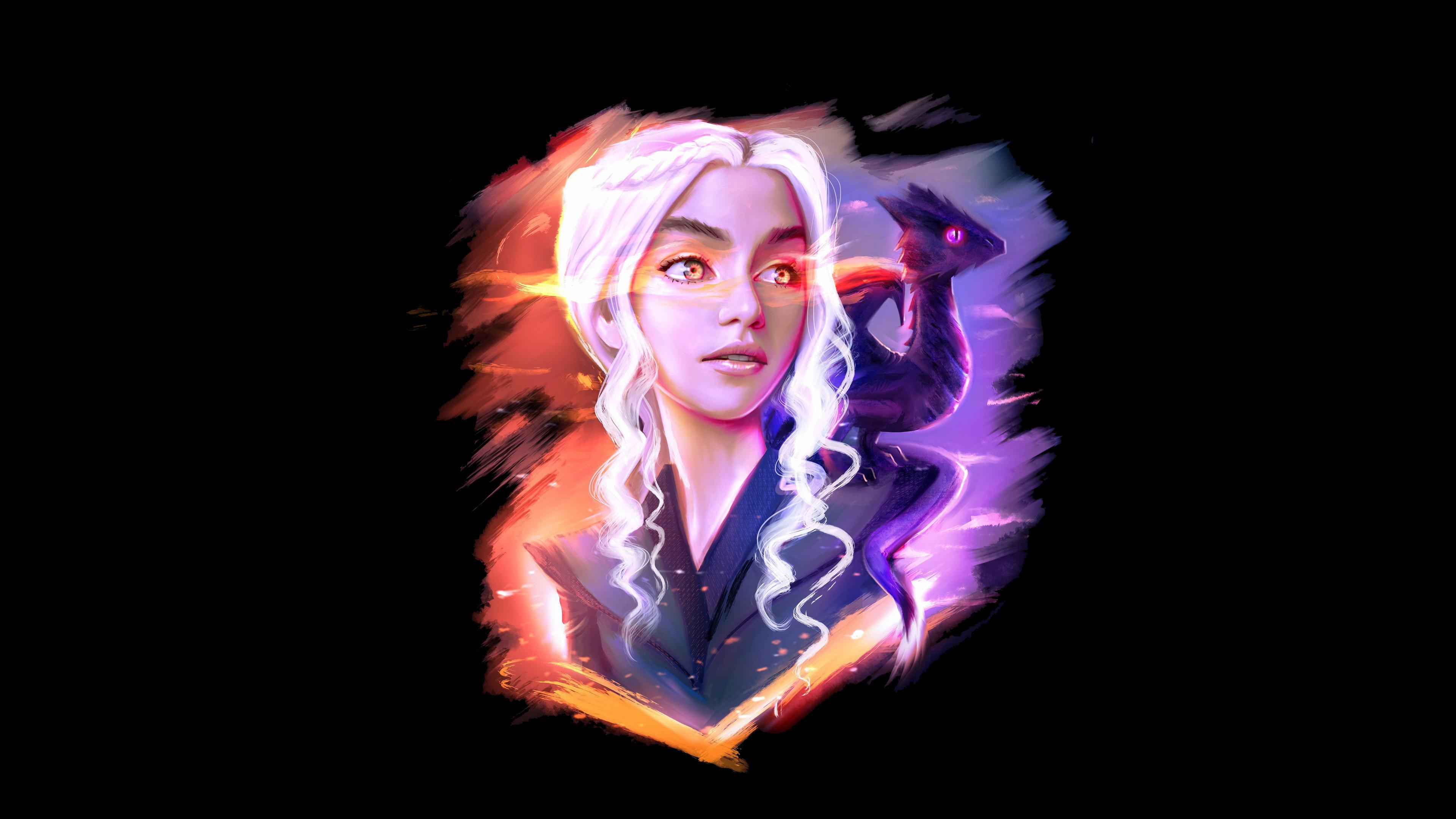 Download 3840x2400 Wallpaper Daenerys Targaryen And Dragon Game
