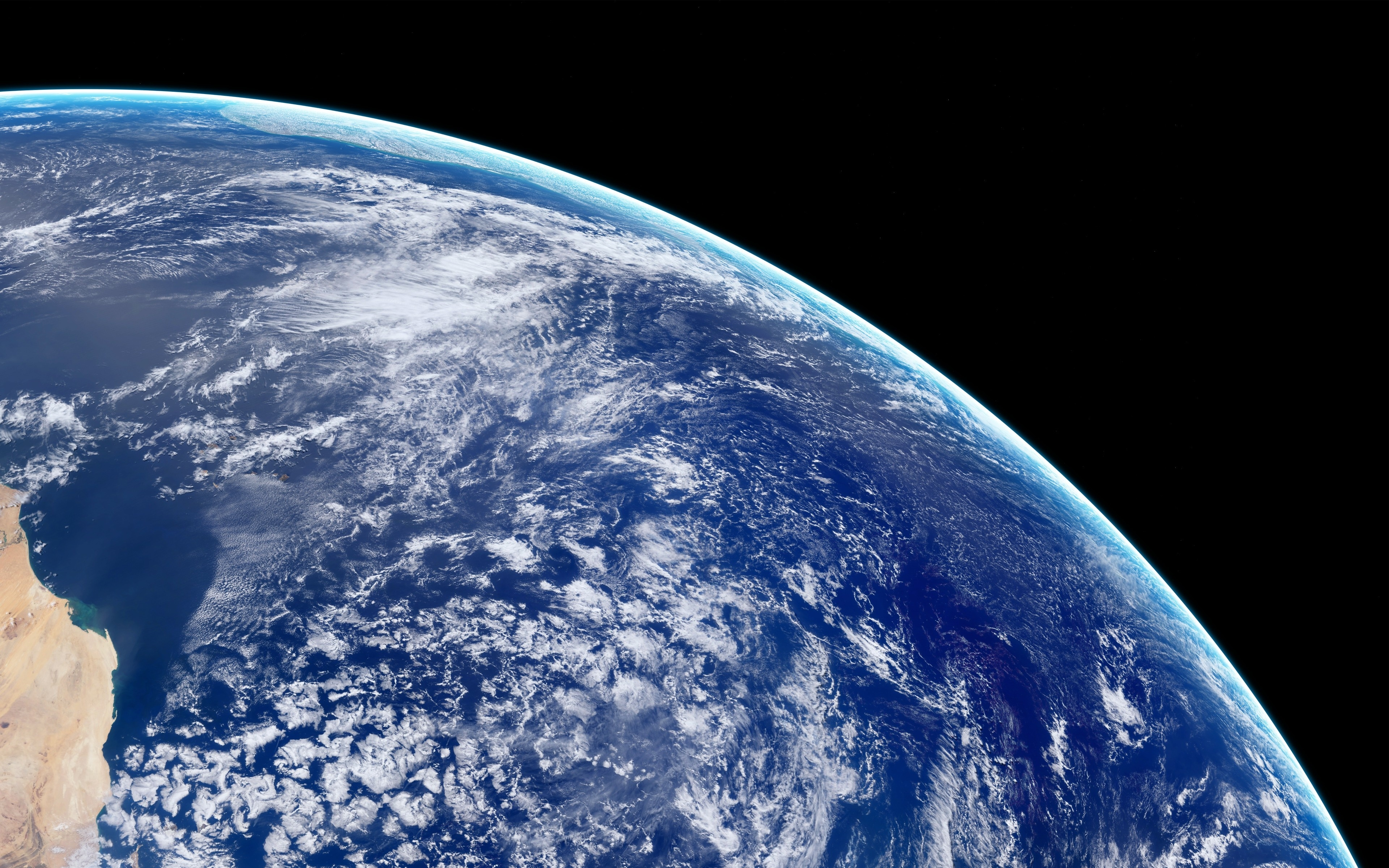 Download 3840x2400 Wallpaper Clouds Earth View From Space 4k