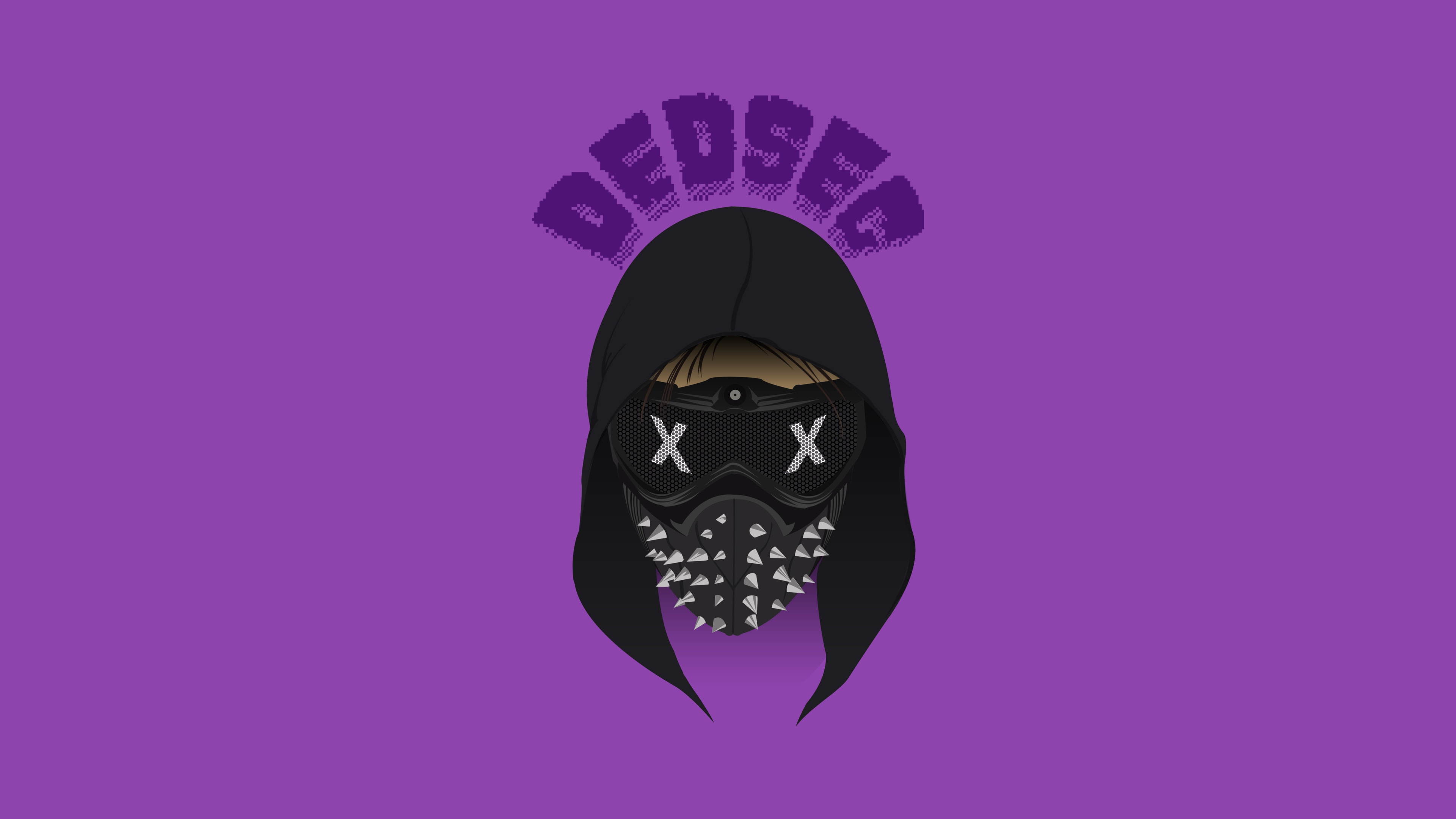 Download 3840x2400 Wallpaper Dedsec Watch Dogs 2 Minimal Purple