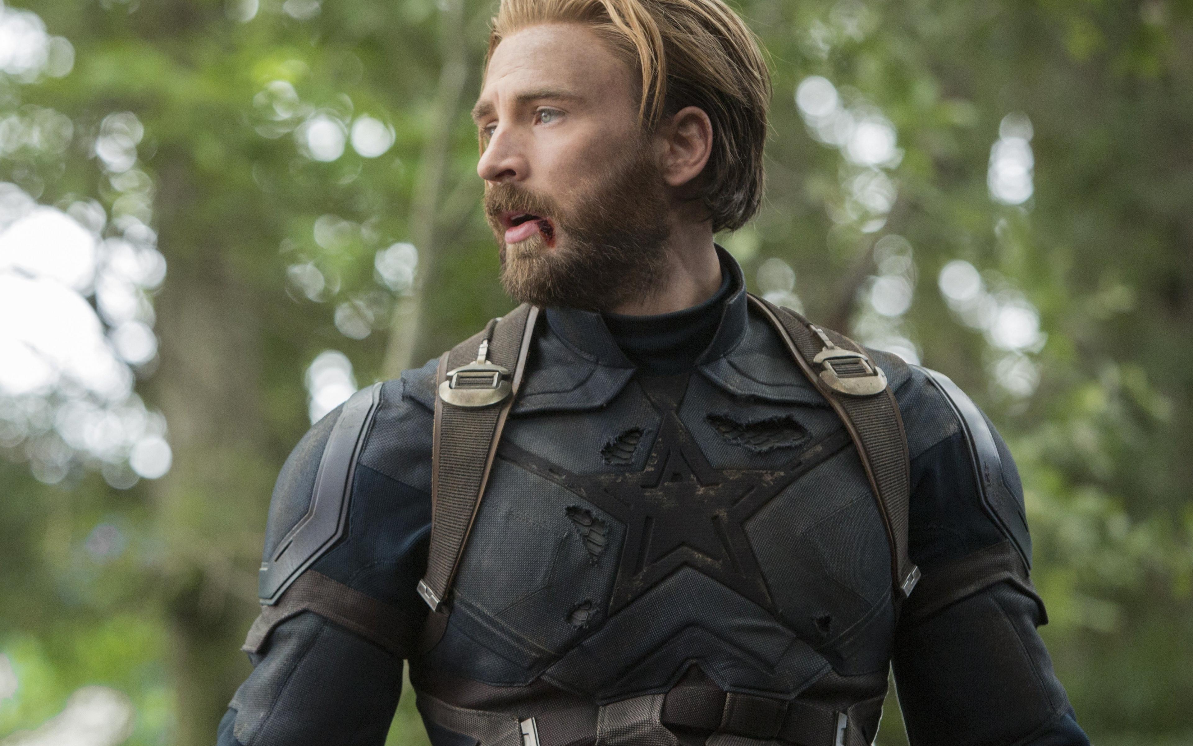 Download 3840x2400 Wallpaper Captain America Chris Evans Avengers