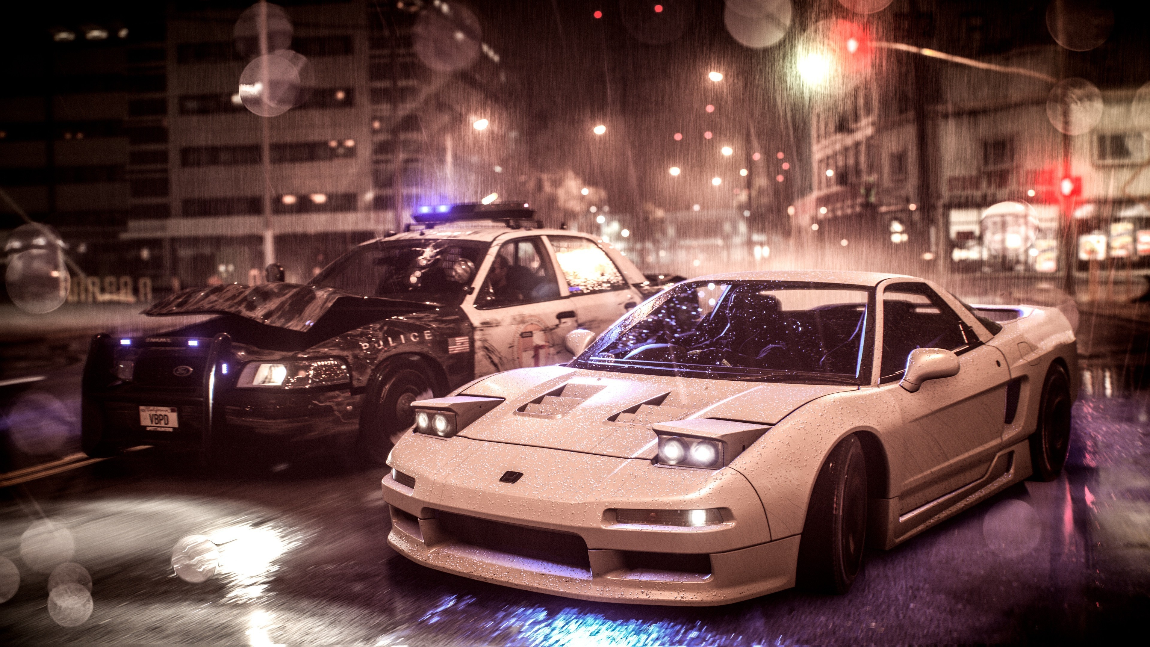 Download 3840x2400 Wallpaper Need For Speed Acura Nsx Vs Police