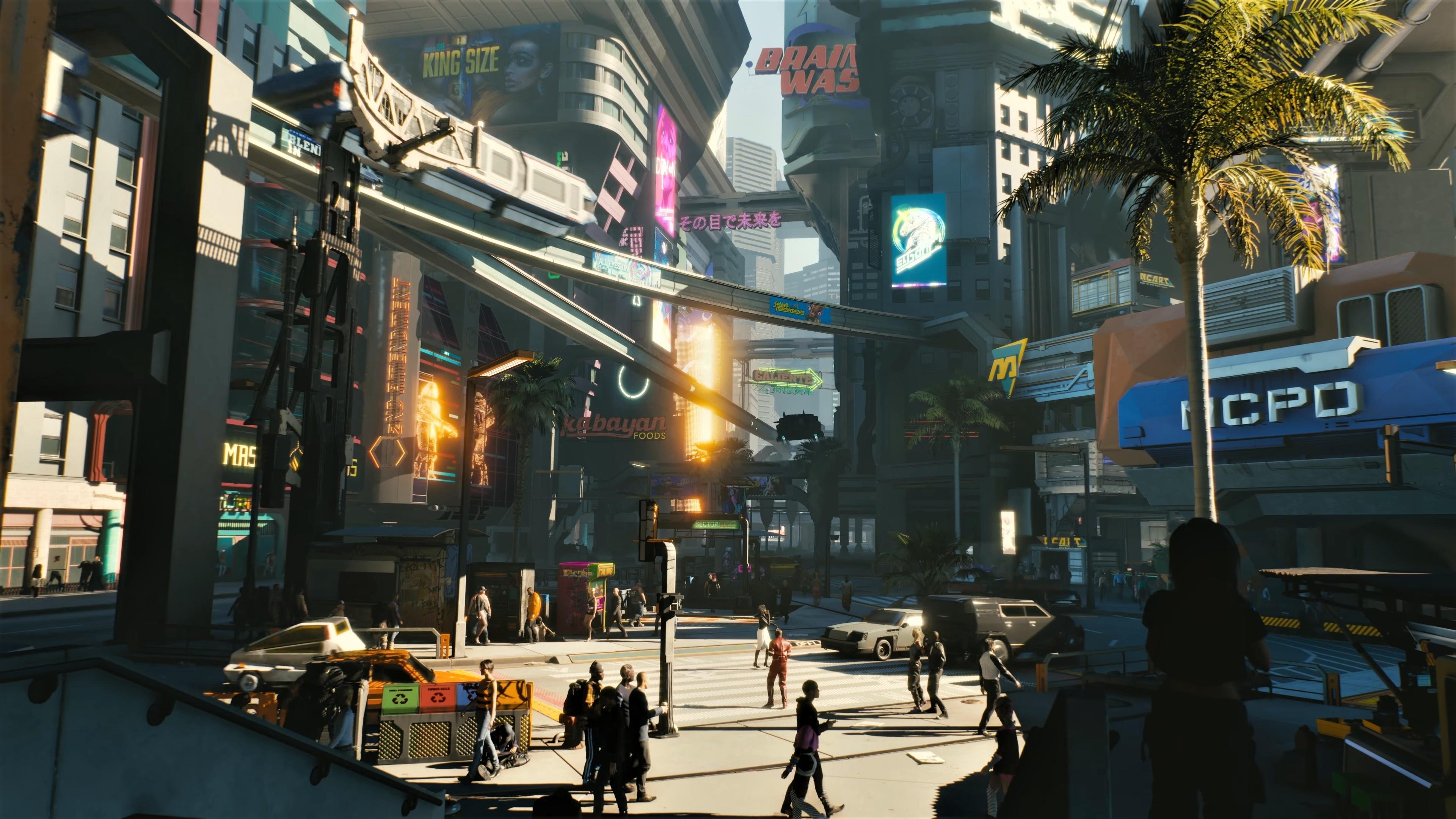 Cyberpunk 2077 City Wallpaper: Download 3840x2400 Wallpaper Modern City, Cyberpunk 2077